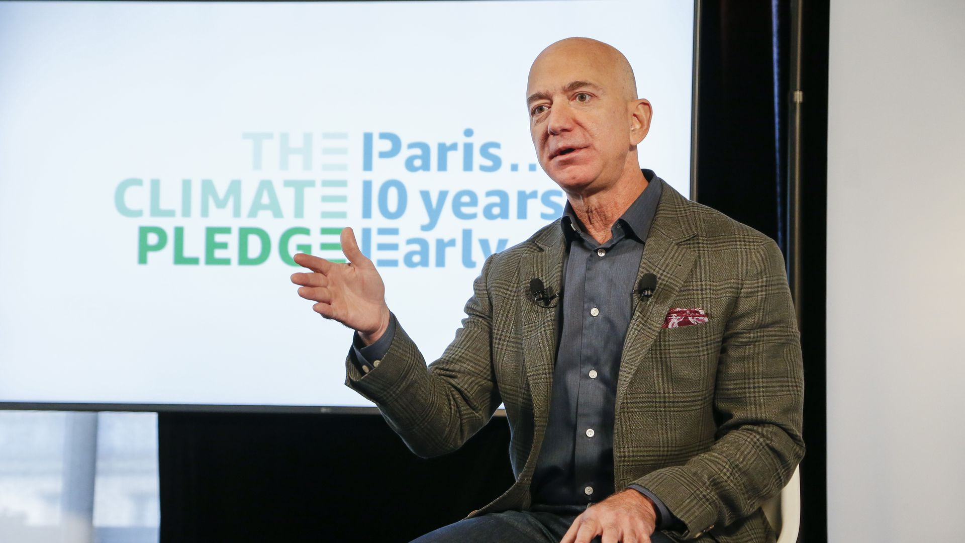 Amazon founder Jeff Bezos announces the co-founding of The Climate Pledge