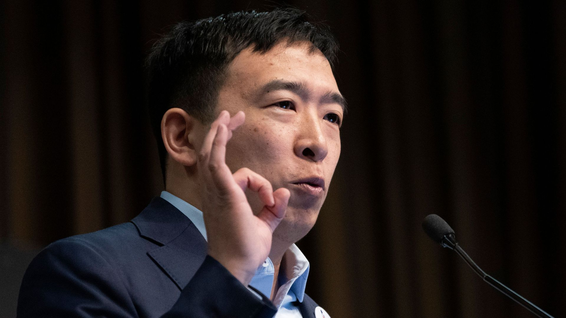 "Democratic 2020 hopeful Andrew Yang proposes giving every American adult a $1000 a month ""freedom dividend."""