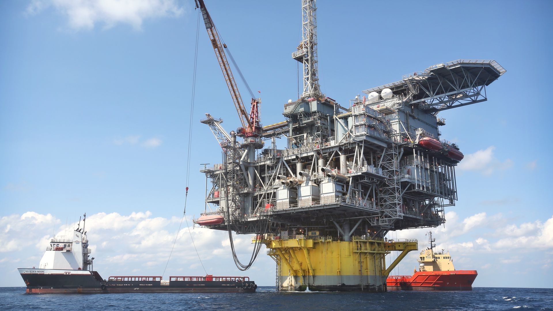 Shell's Perdido offshore drilling and production platform in the Gulf of Mexico.
