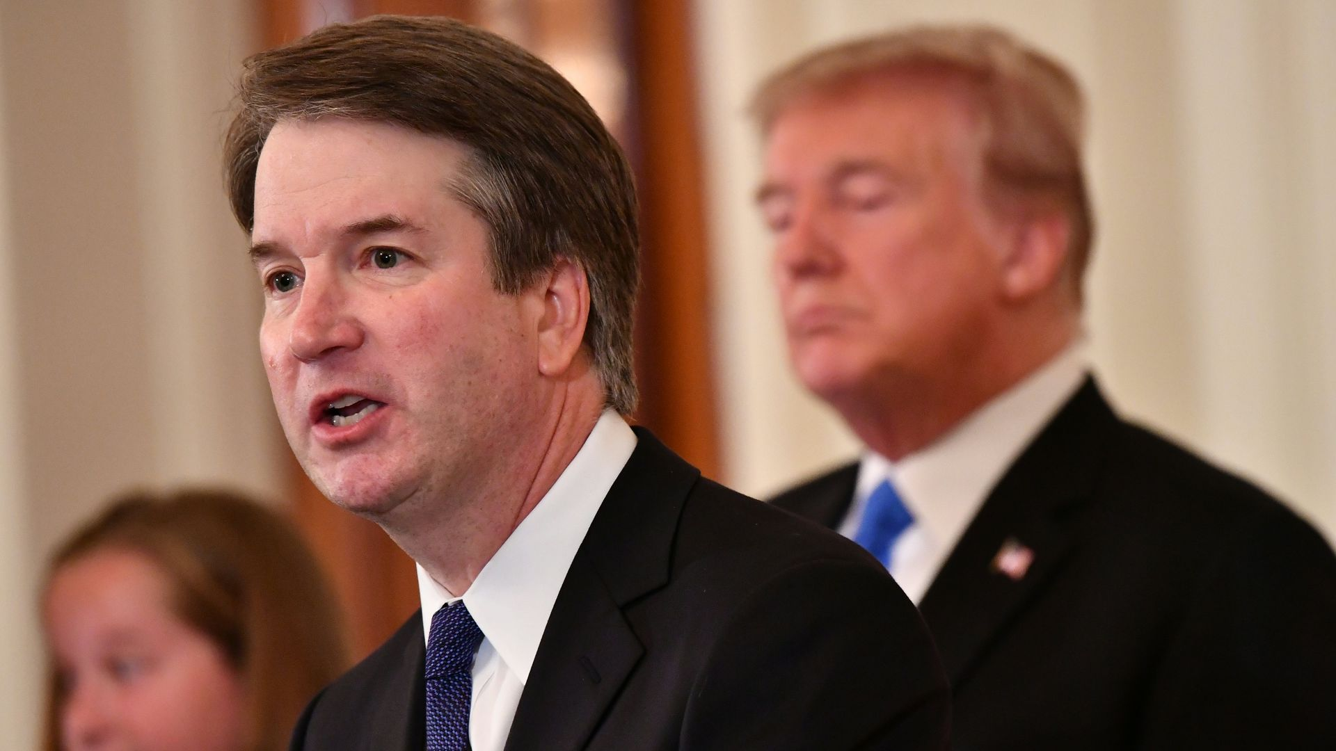 Judge Brett Kavanaugh and President Trump