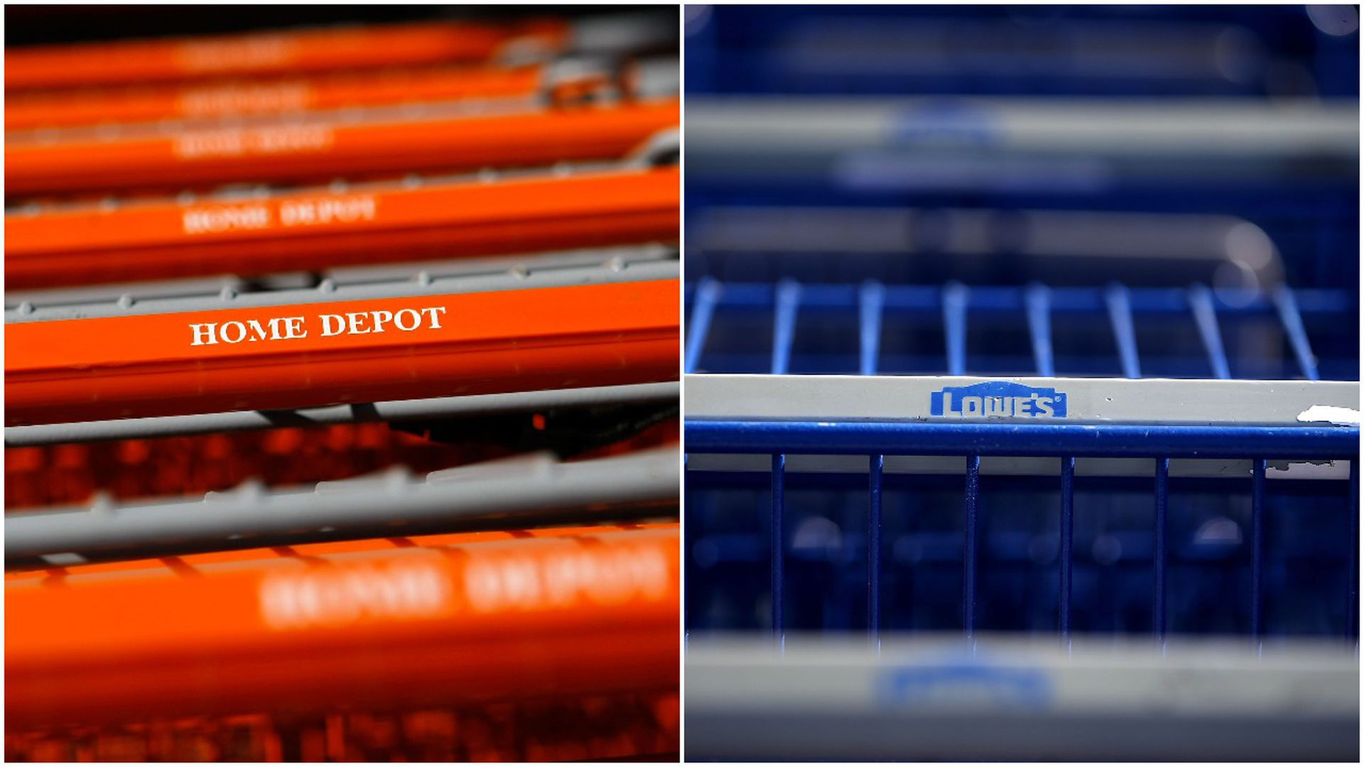 Home Depot & Lowe's carts
