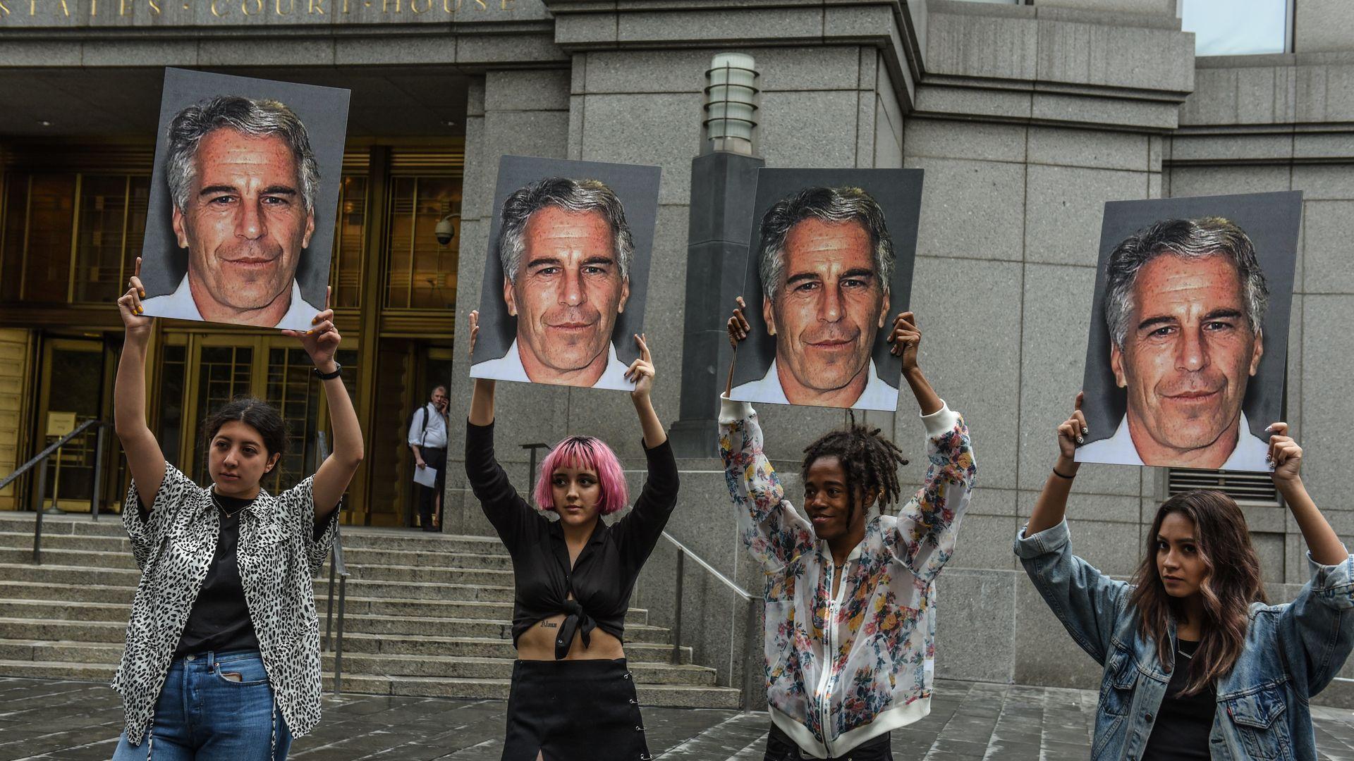 Jeffrey Epstein protestors