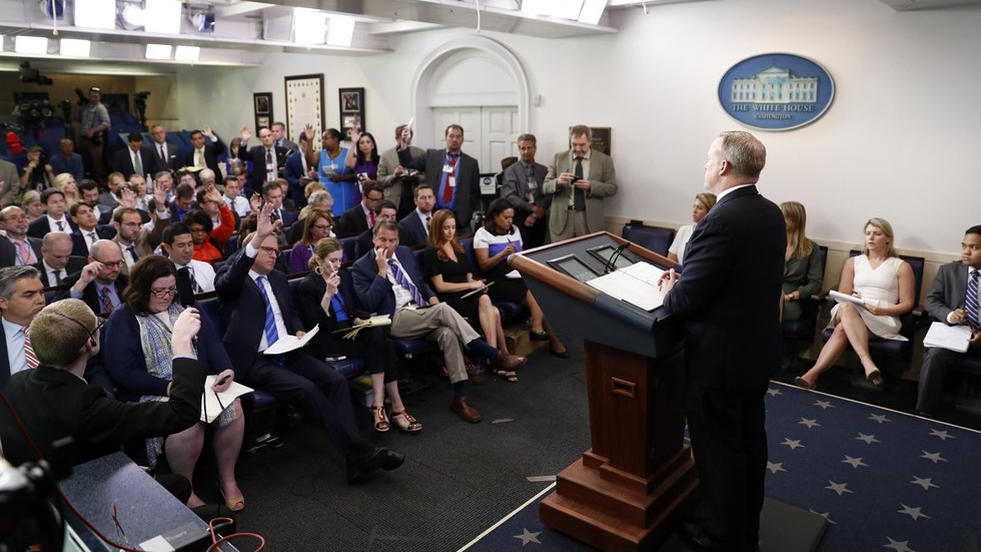 5ade1c606fc0 Stop going to the White House press briefings - Axios
