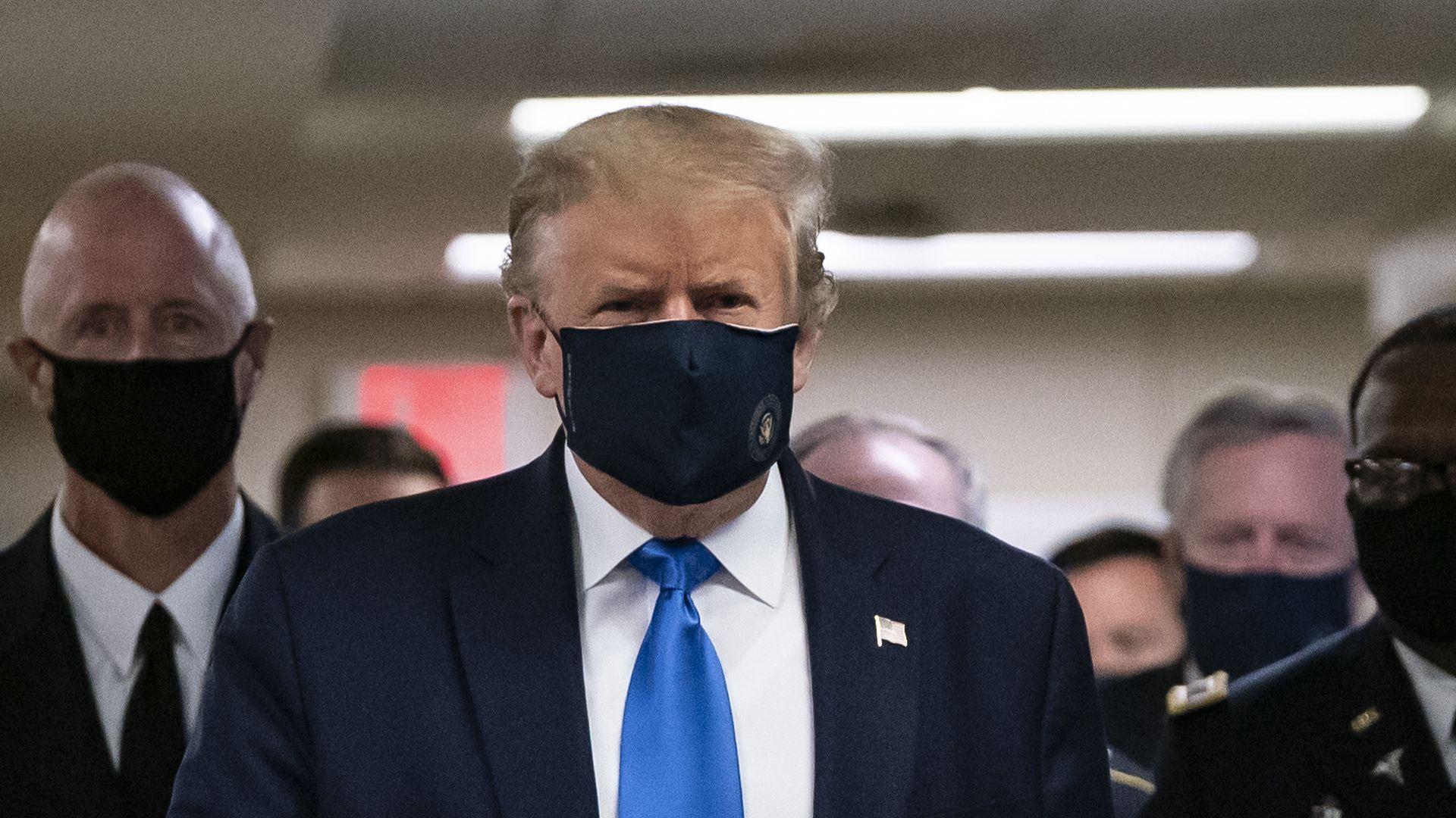 Trump Wears Mask!