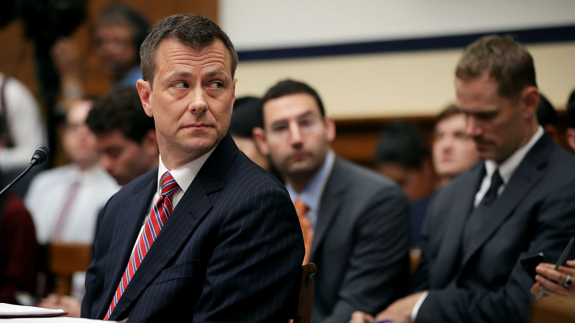 Former FBI official Peter Strzok. Photo: Chip Somodevilla/Getty Images