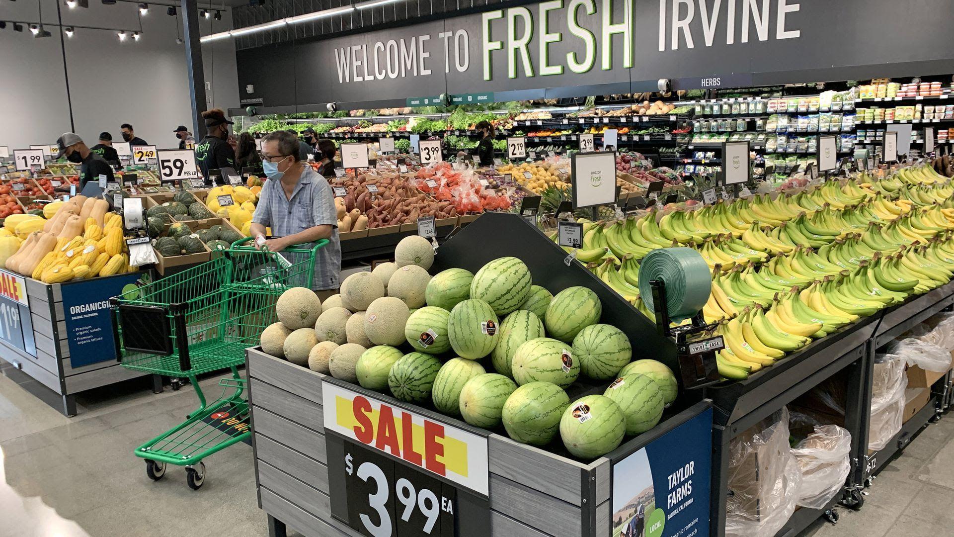 An Amazon Fresh store in Irvine, California.