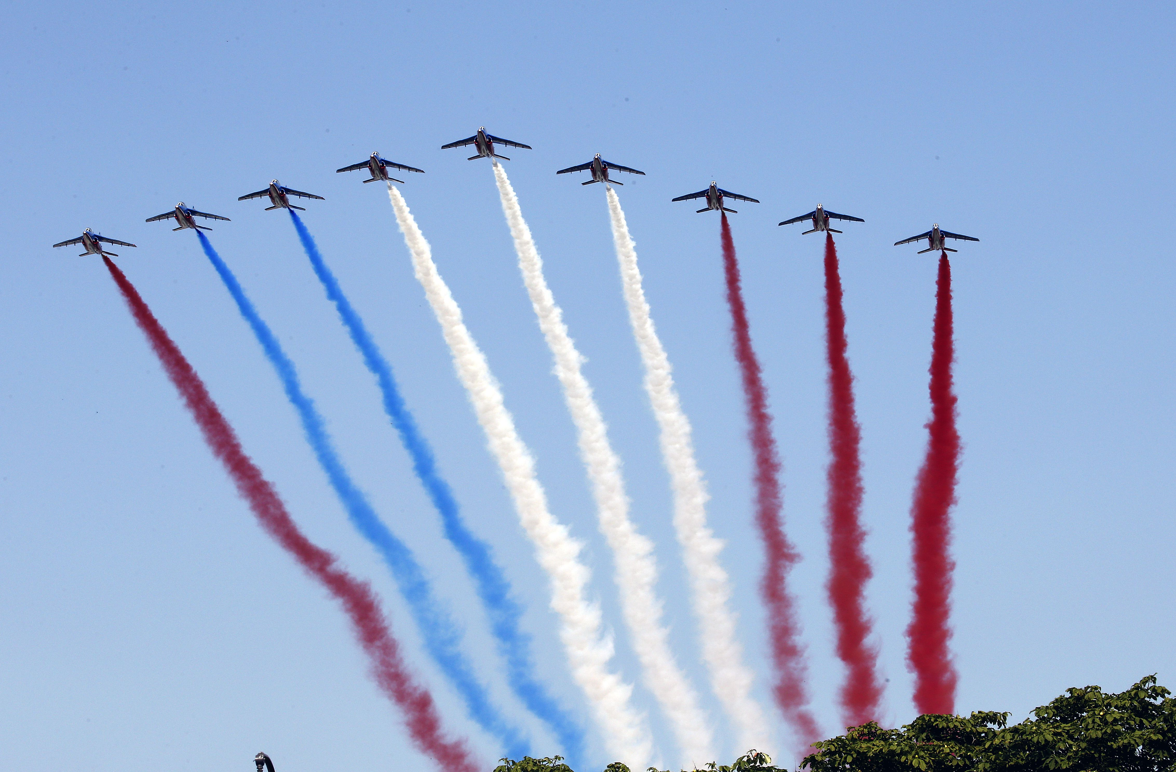 The traditional Bastille day fly over