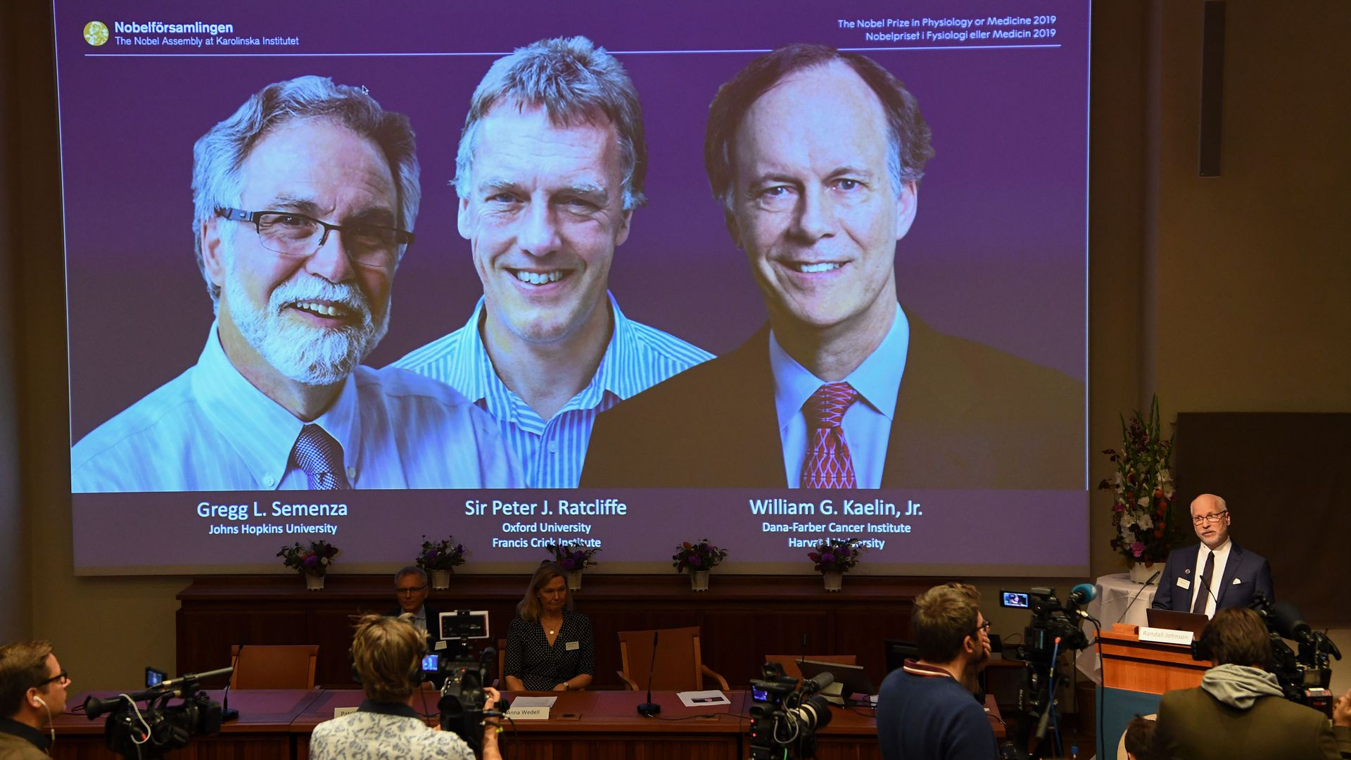The Nobel Committee announces winners of the 2019 Nobel Prize in Physiology or Medicine.