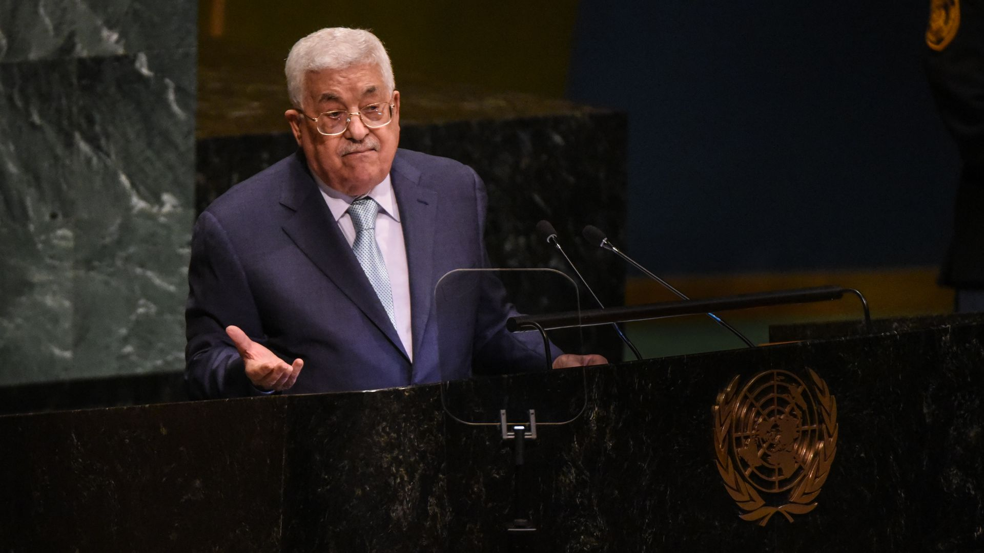 Palestinian president says door is open to dialogue with Trump