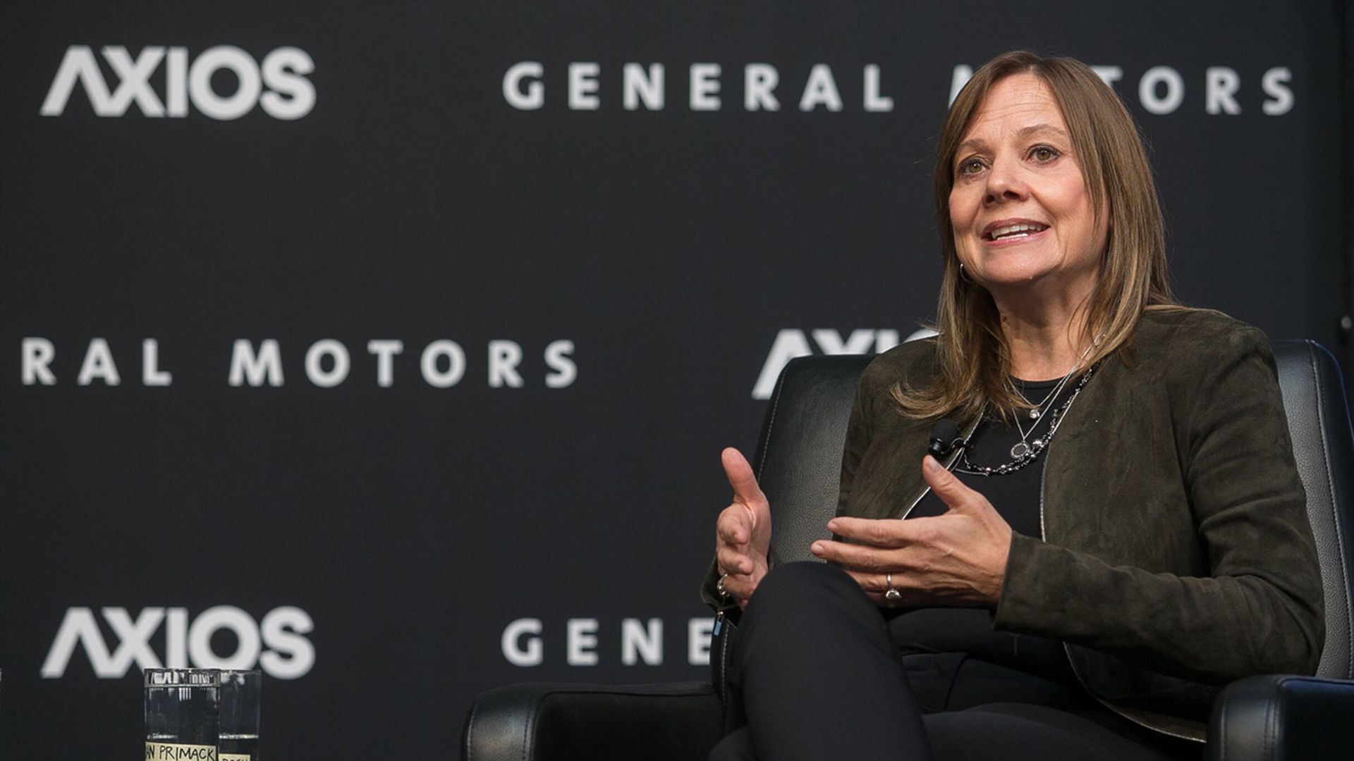 General Motors CEO Mary Barra onstage at an Axios event in Boston.