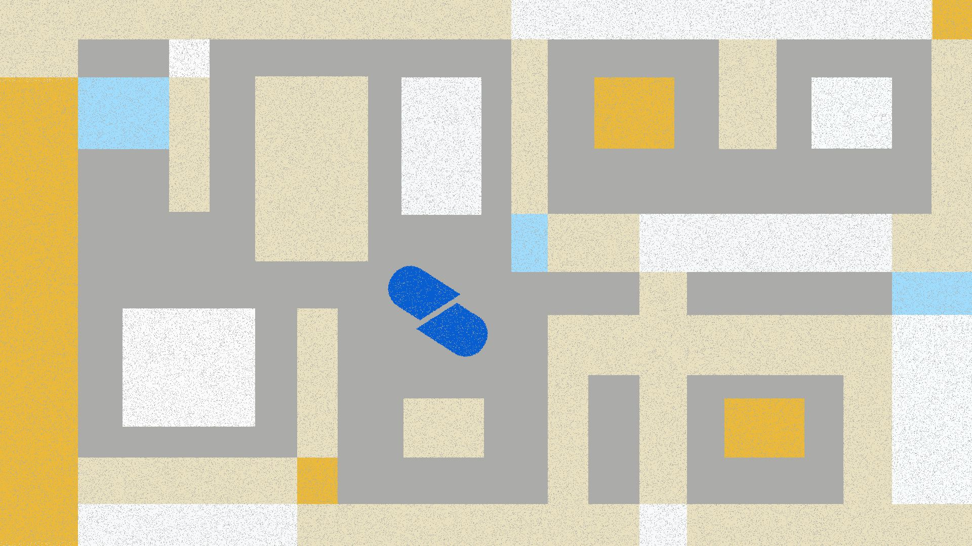 Illustration of pill in a labyrinth