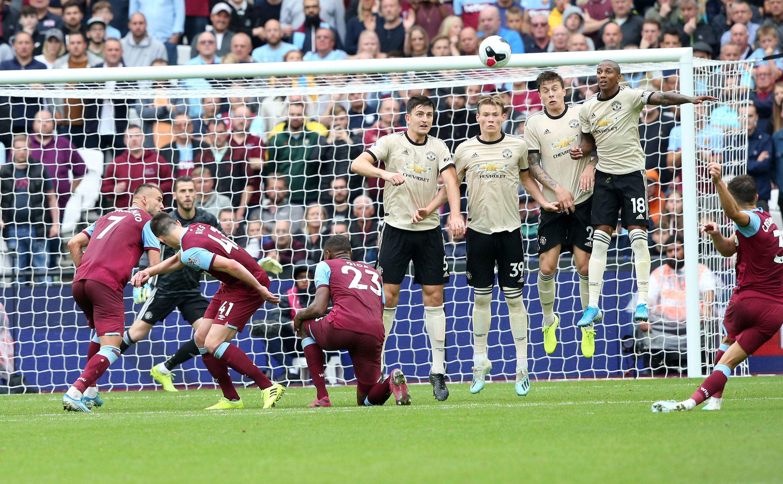 West Ham scoring their second goal