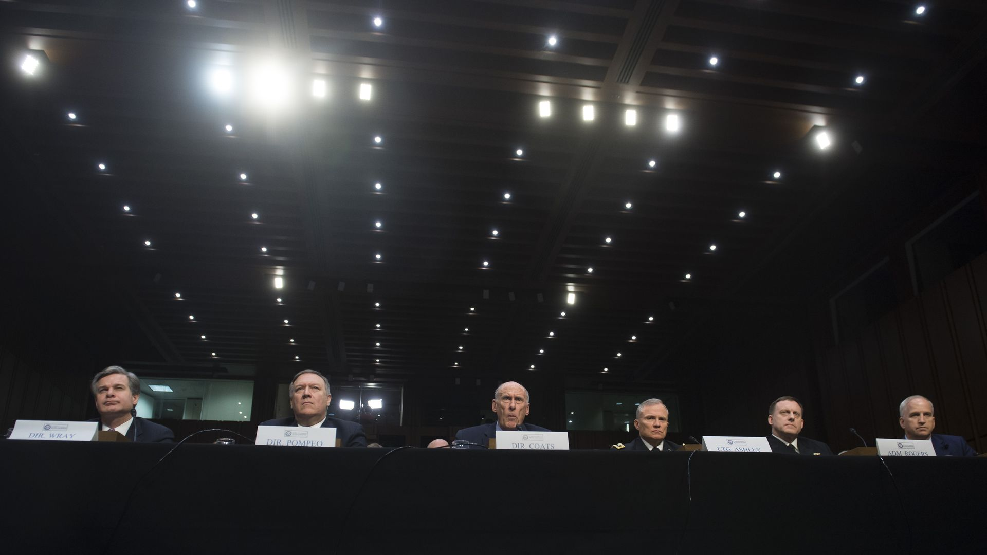 Intelligence directors testify on Capitol Hill.