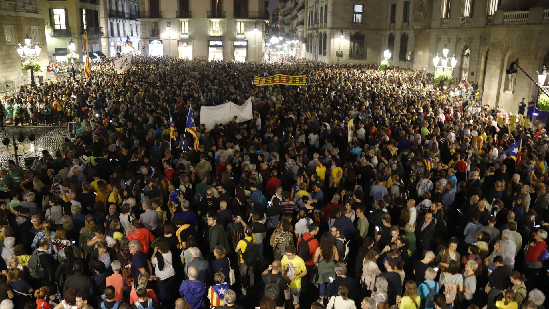 Anger in Catalonia over harsh sentences for separtists