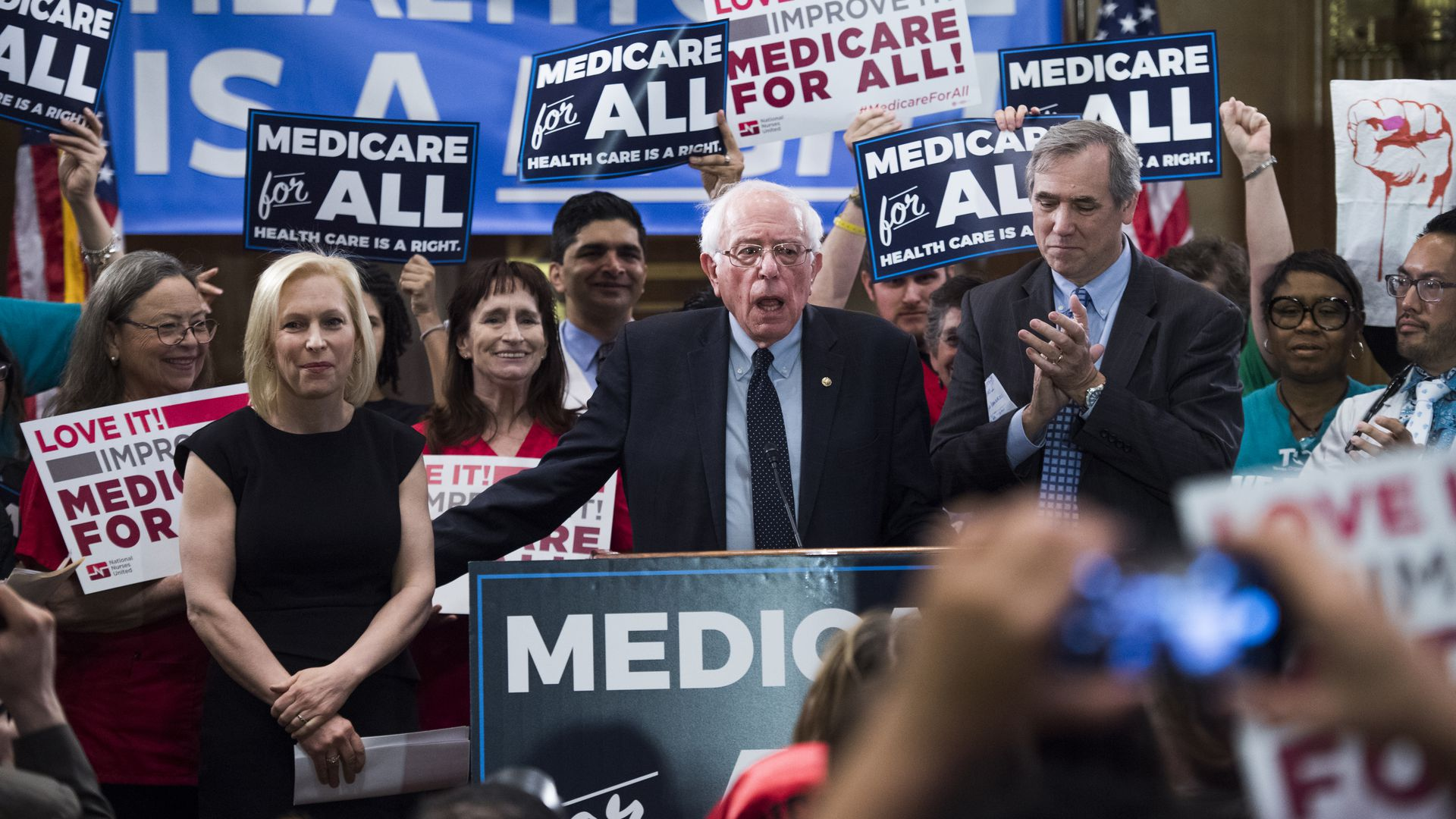 Sen. Bernie Sanders introduces his Medicare for All bill of 2019.
