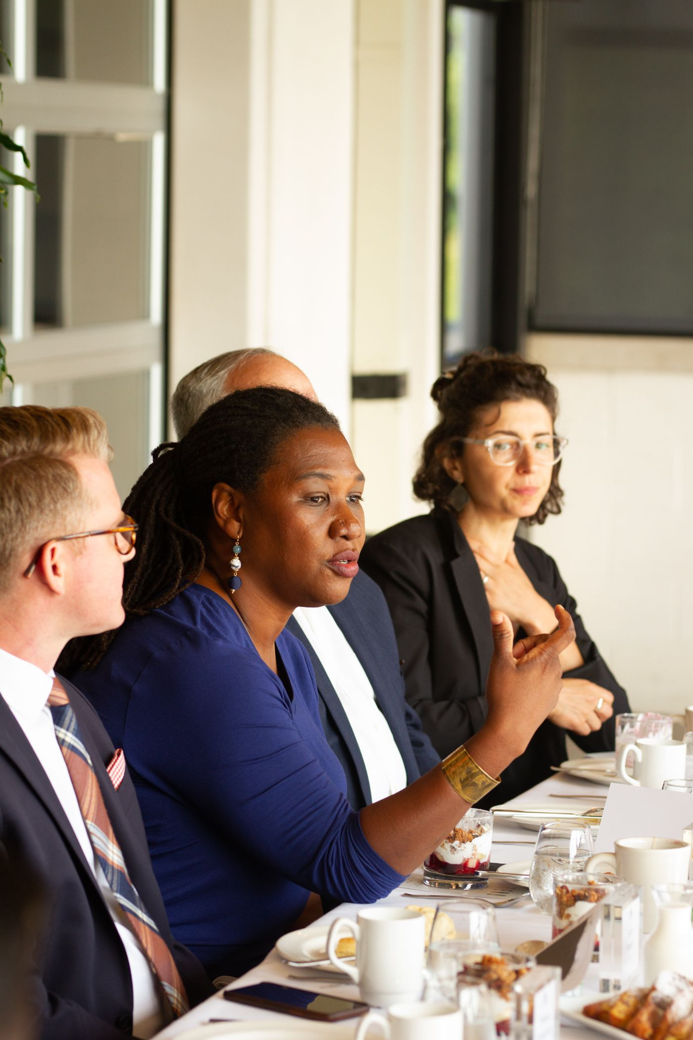 Tene Franklin, Vice President of Diversity Equity and Inclusion for Health Leads at the Axios roundtable.