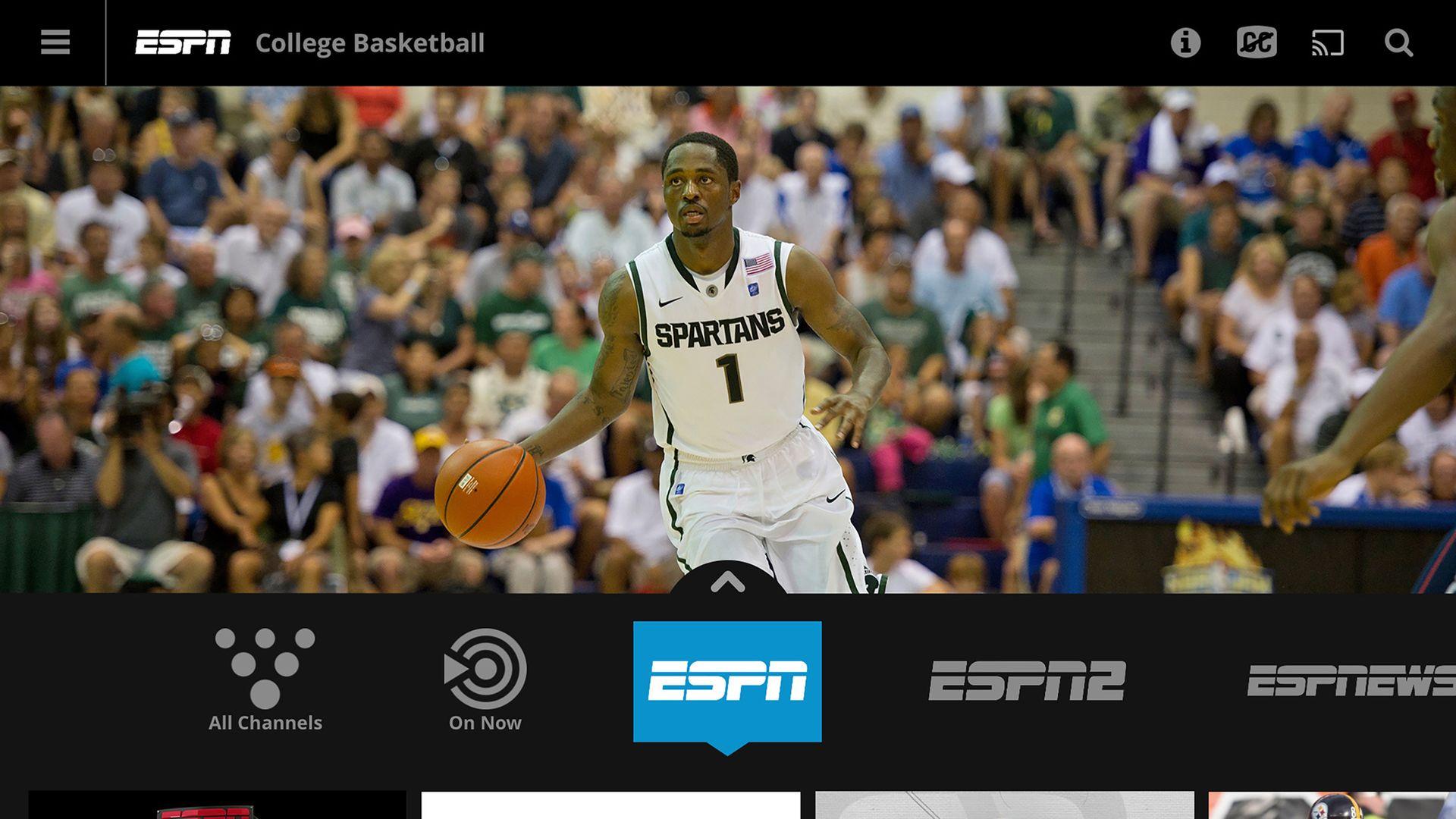 Screenshot of NCAA basketball.