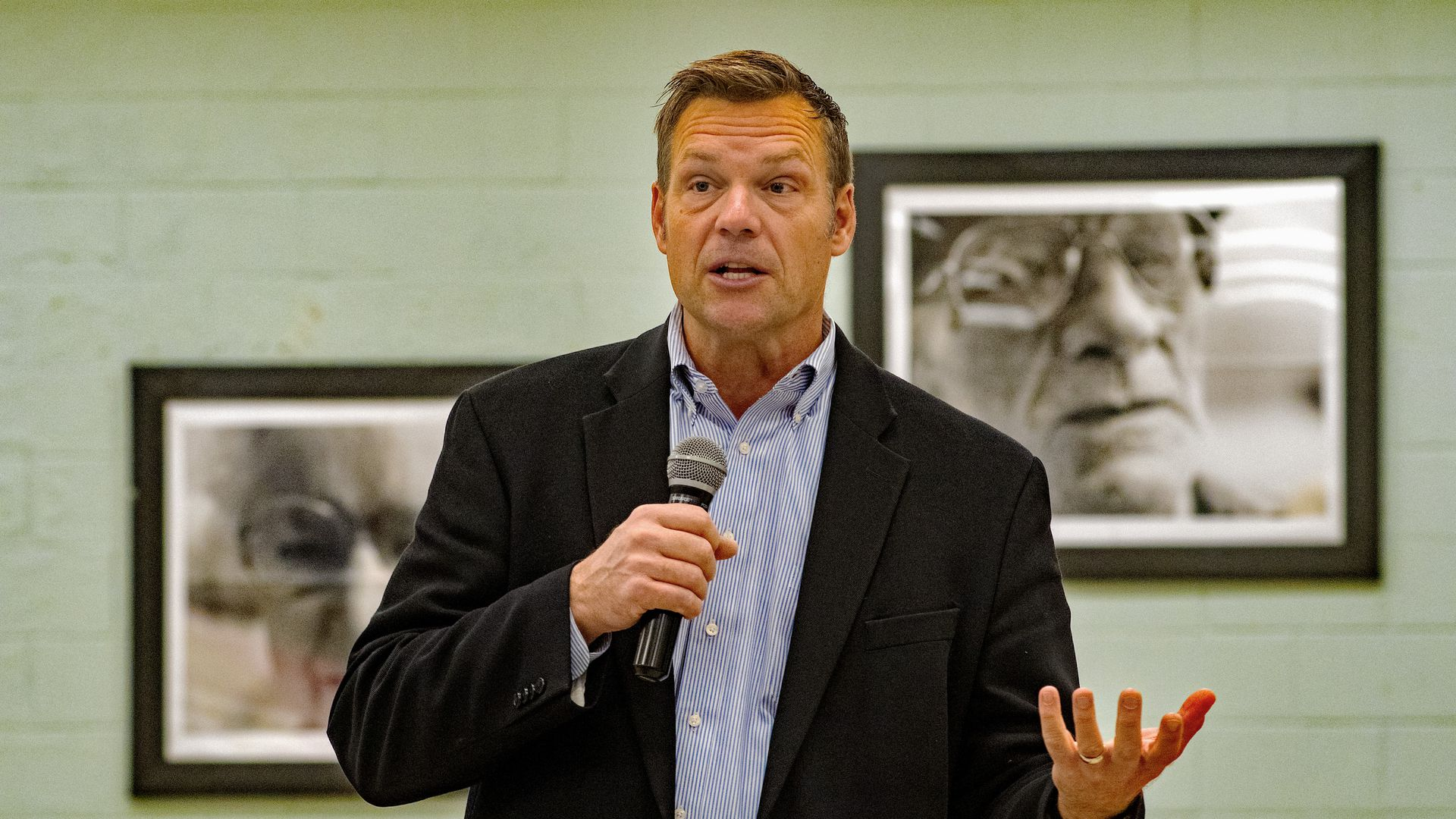Kansas Republican gubernatorial candidate Kris Kobach. Photo: Mark Reinstein/Corbis via Getty Images