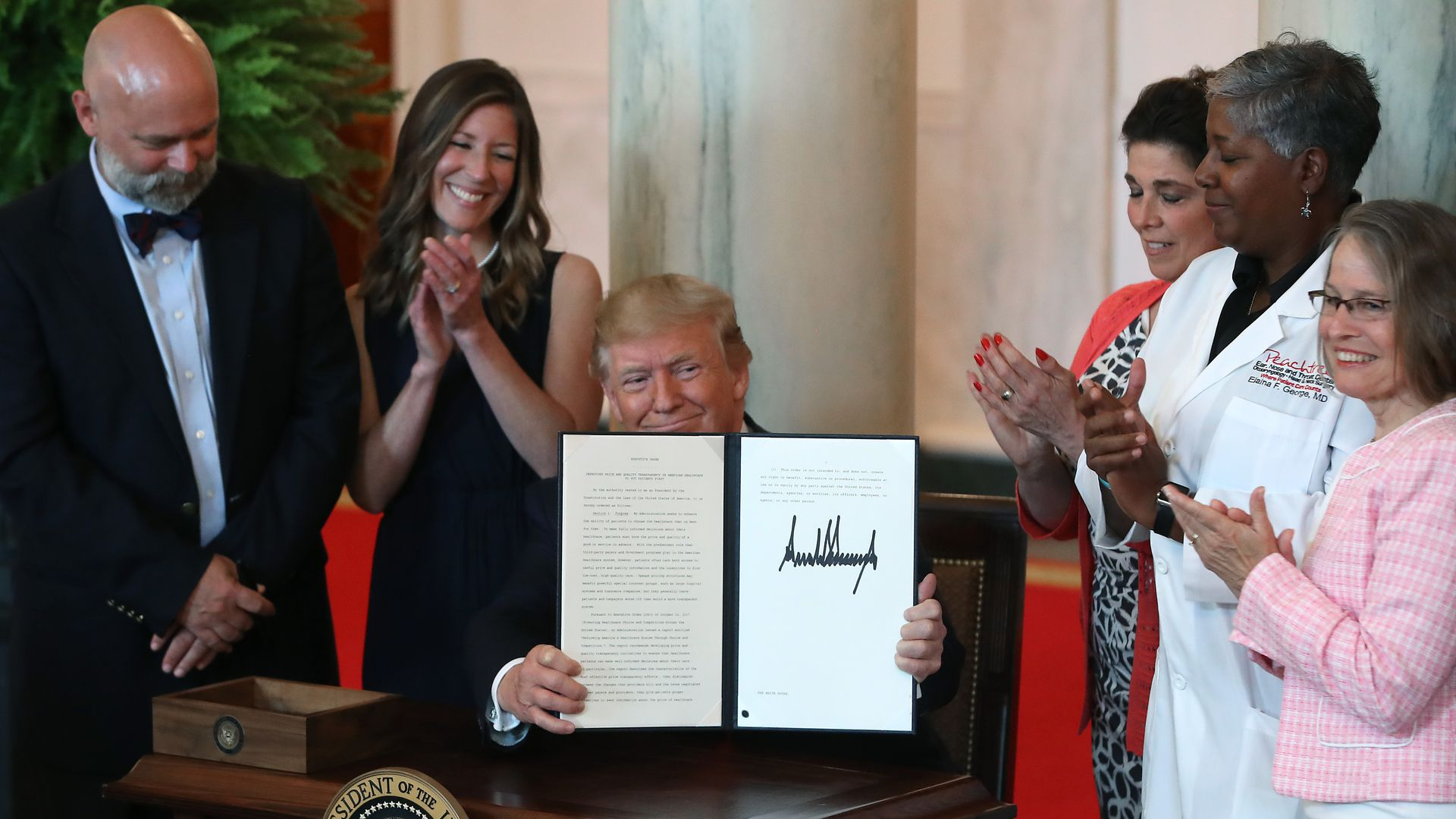 Trump signs health care executive order
