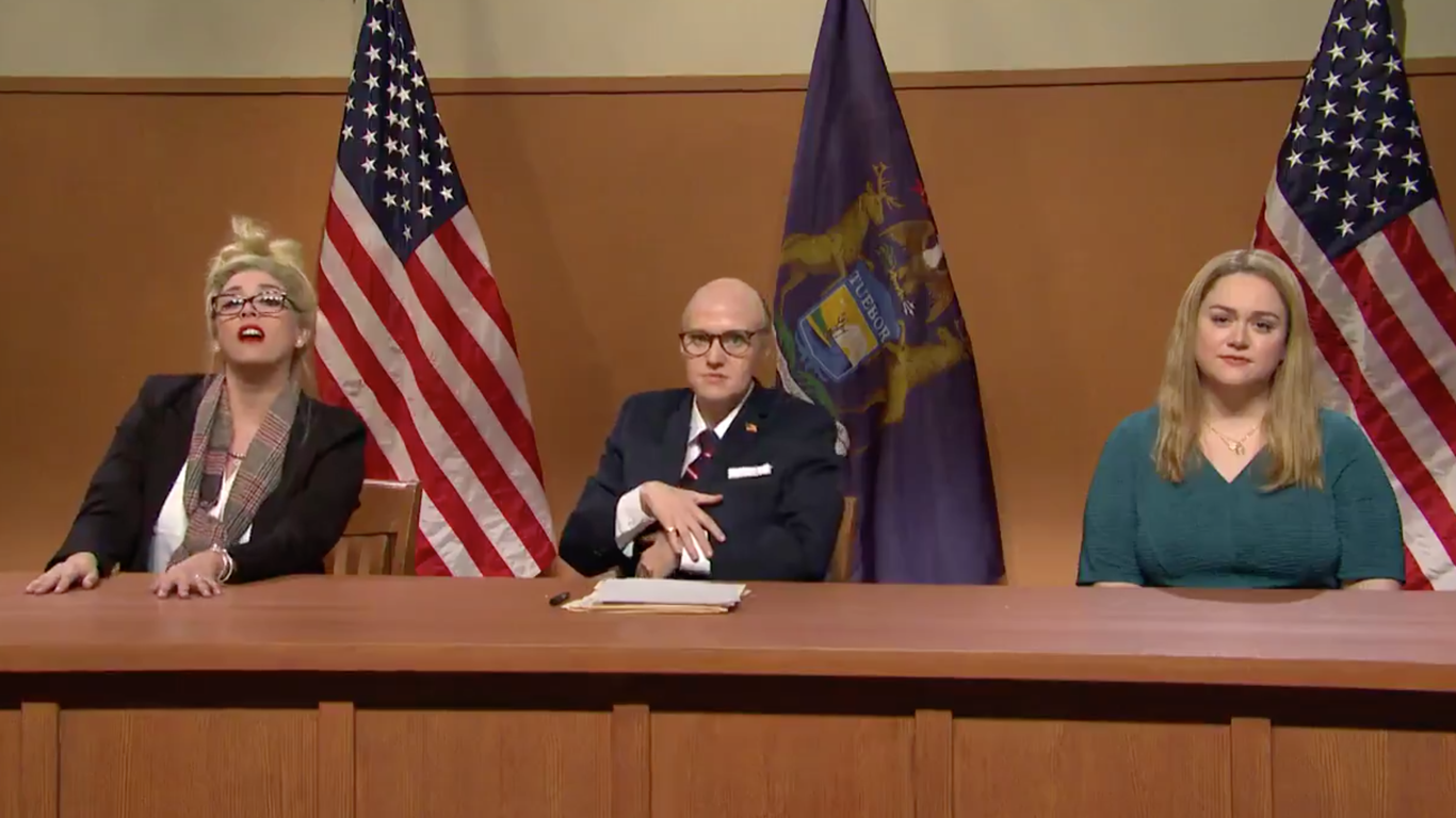"""""""SNL"""" skewers Michigan state election fraud hearing in cold open"""