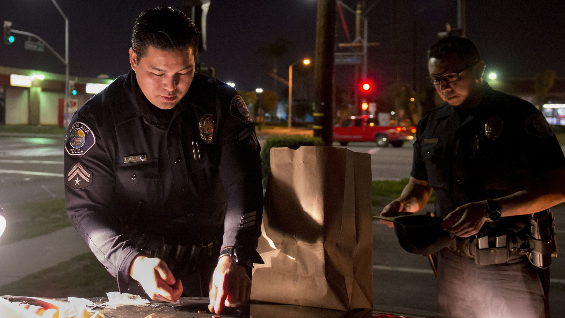 Santa Ana police officers.