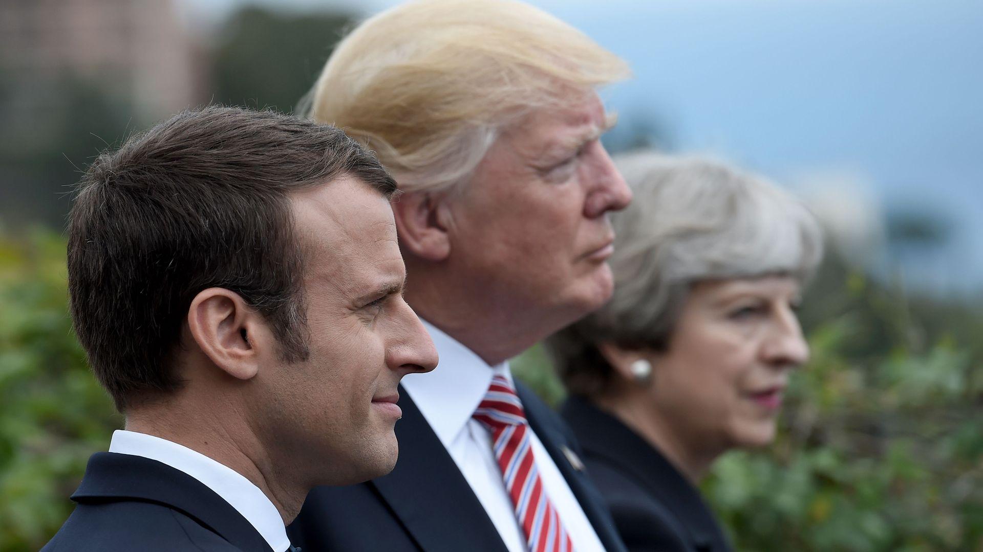 Macron, Trump, May