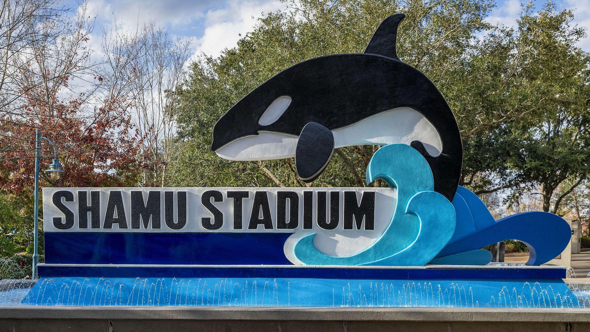 Shamu Stadium at Seaworld marine park, Orlando Florida. (Photo by John Greim/LightRocket via Getty Images)