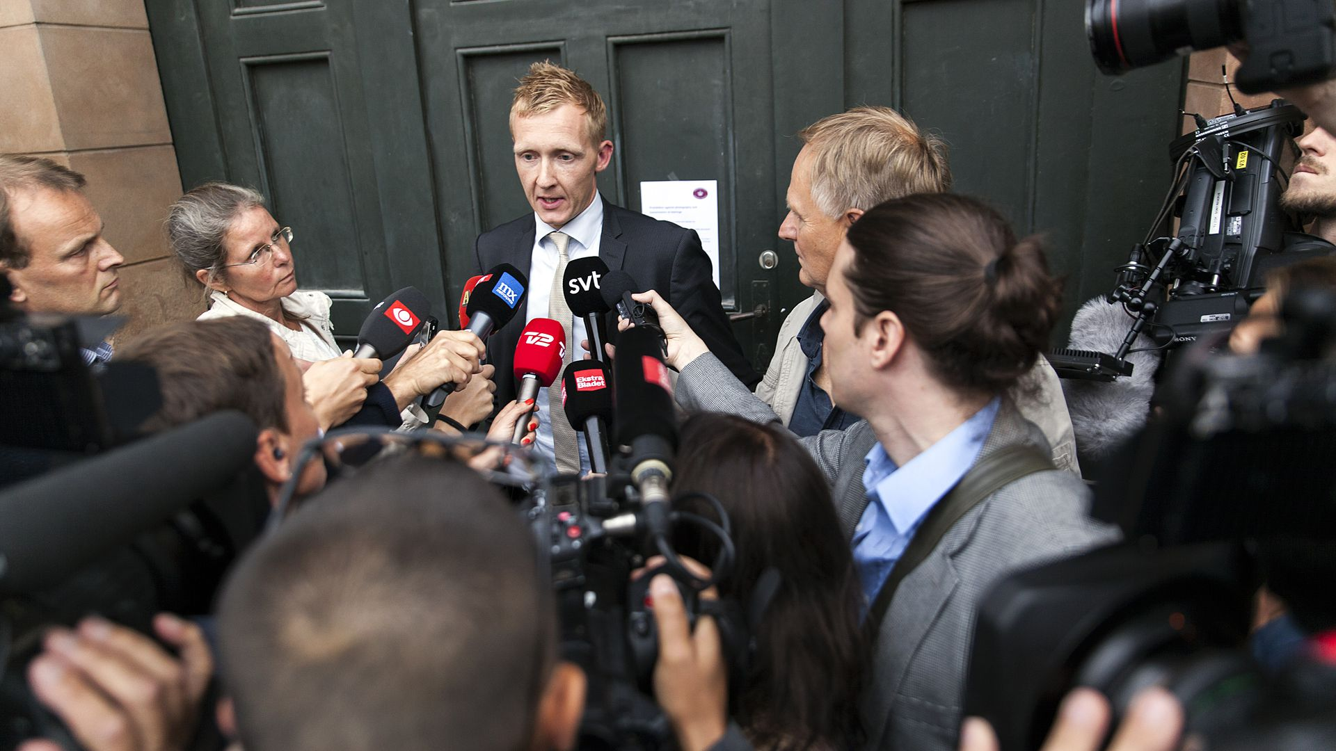 Prosecutor Jakob Buch-Jepsen holds a press briefing after a September 2017 decision over the murder case of journalist Kim Wall.