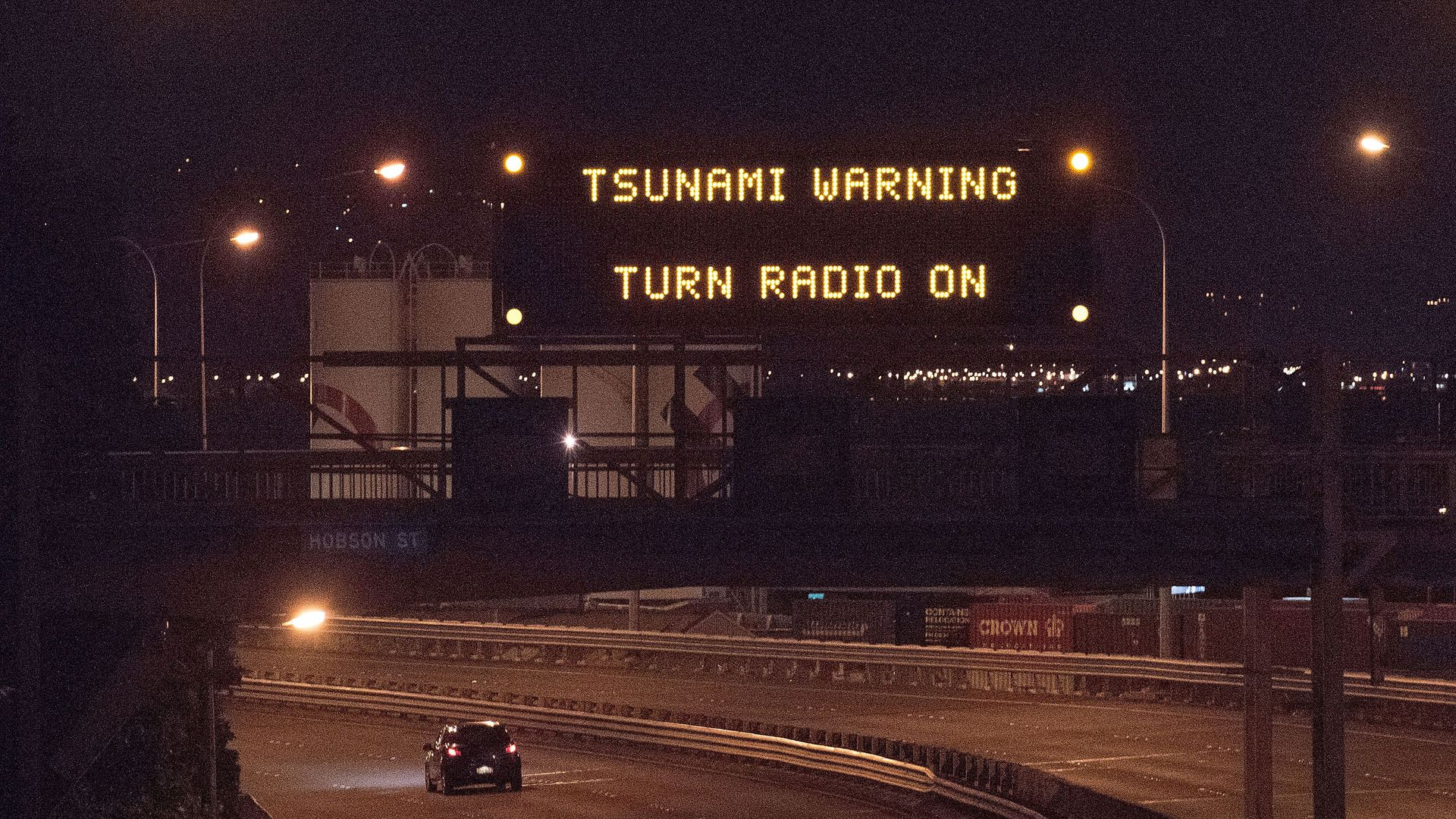 Tsunami warning.