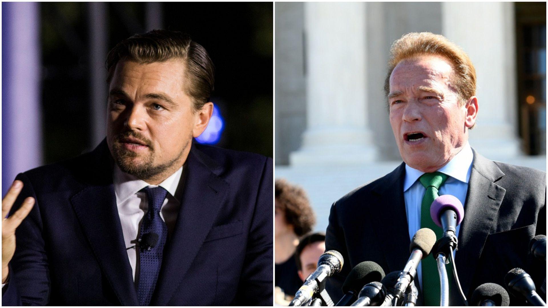 Leo DiCaprio and Arnold Schwarzenegger pic stitch
