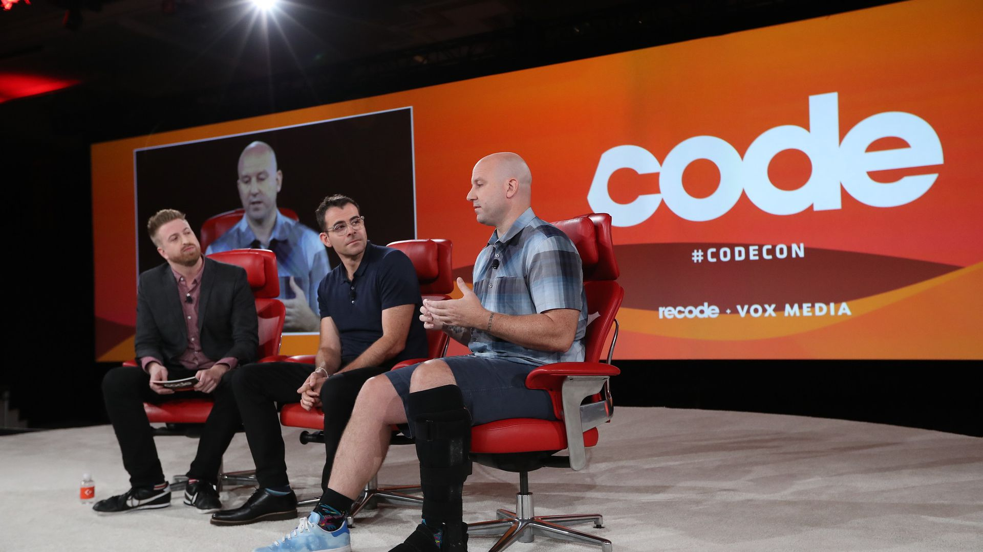 Facebook executives Adam Mosseri and Andrew Bosworth at Code Conference 2019