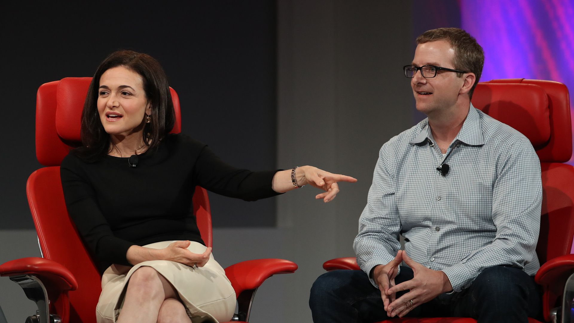 Sheryl Sandberg and Mike Schroepfer of Facebook