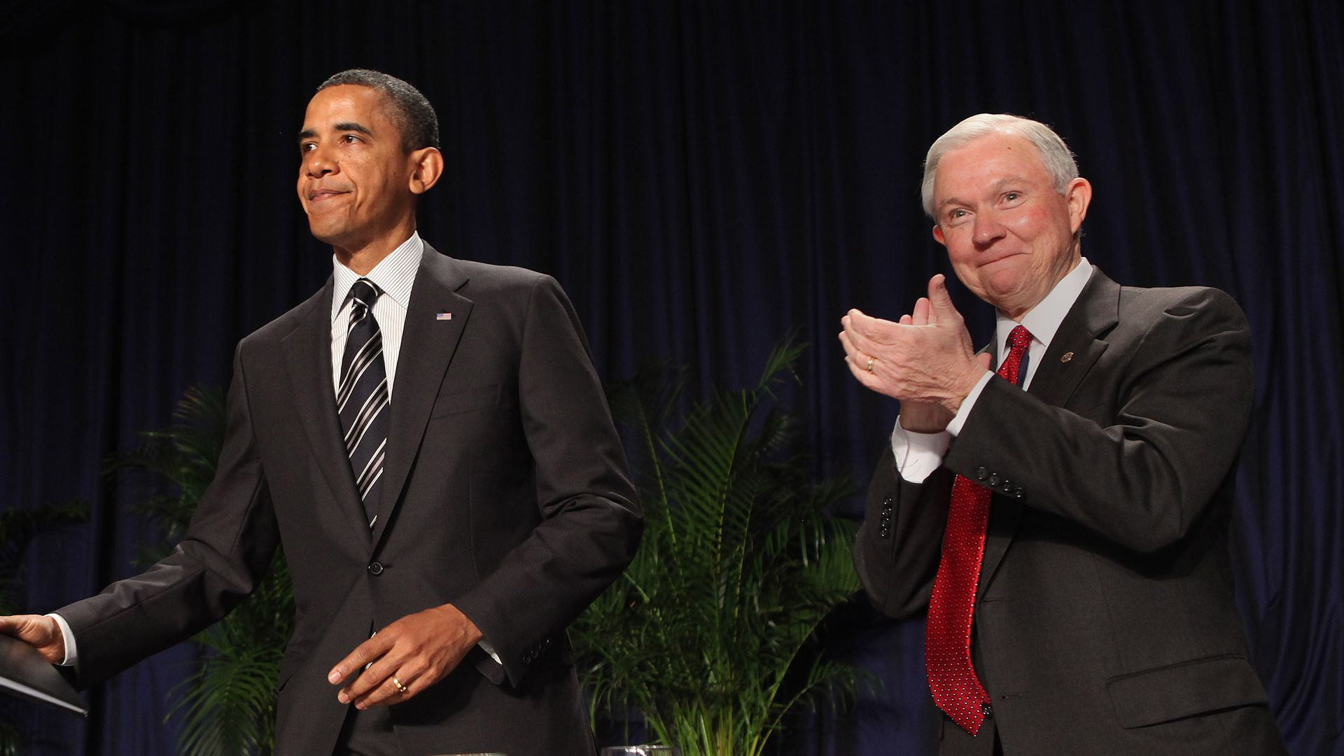 Barack Obama and Jeff Sessions.