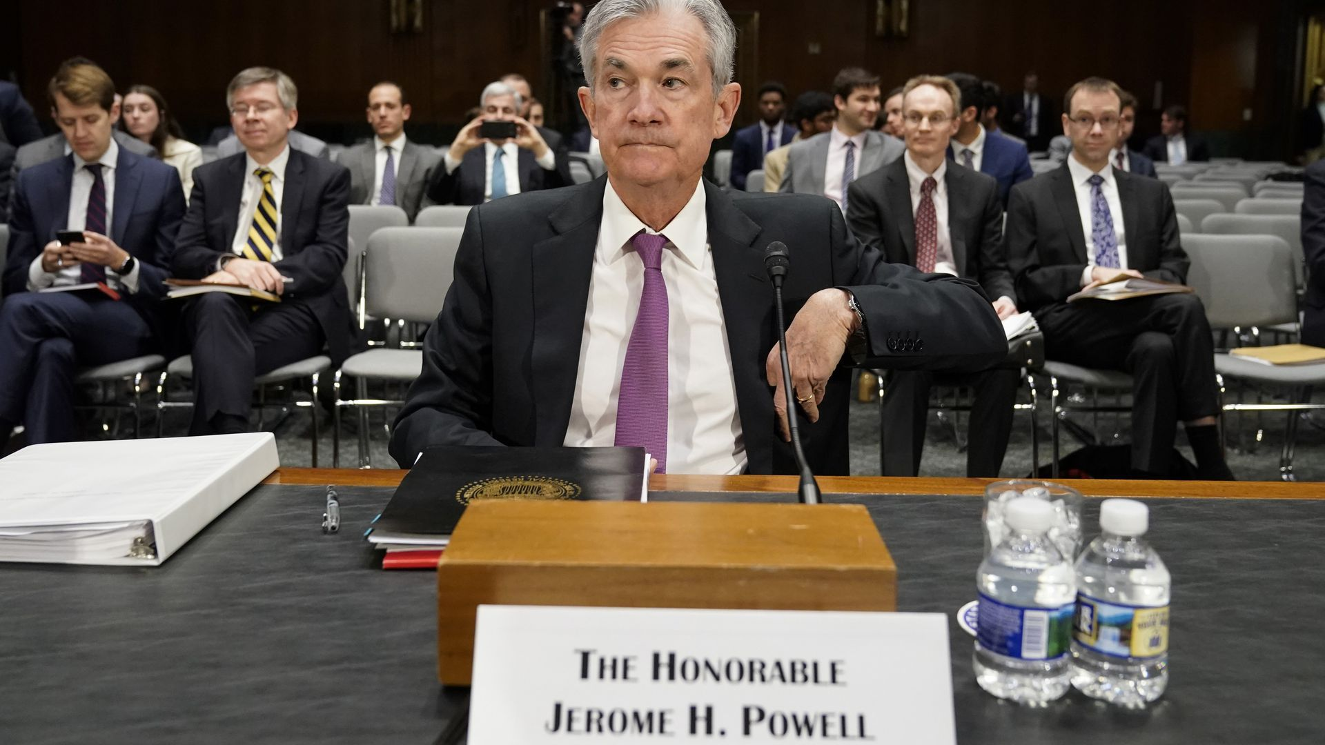 Jerome Powell in front of congress