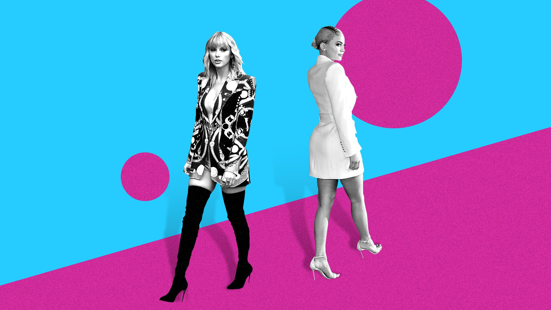 Photo illustration of Taylor Swift and Kylie Jenner.