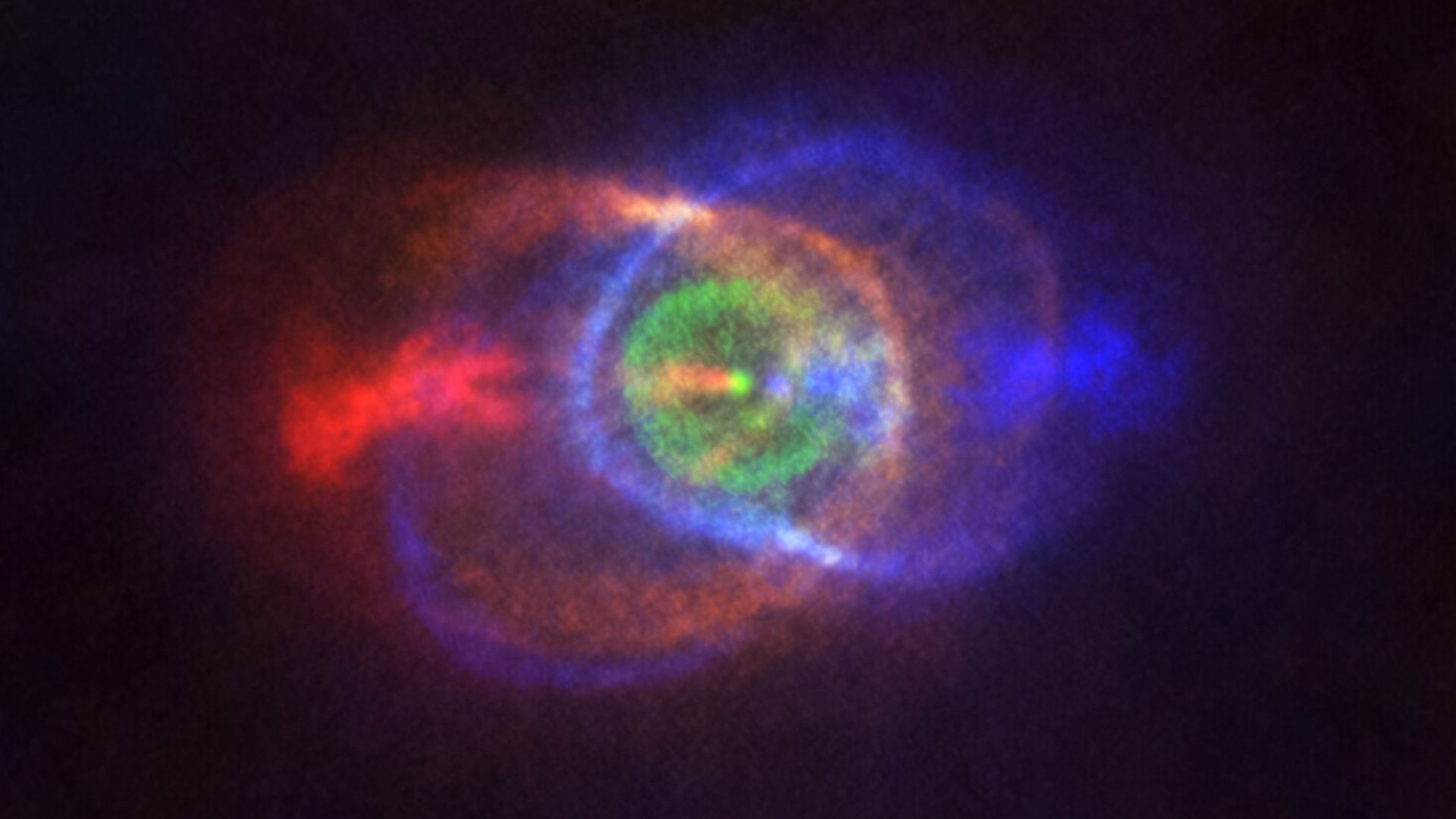 Astronomers capture a stellar deep space confrontation - Axios