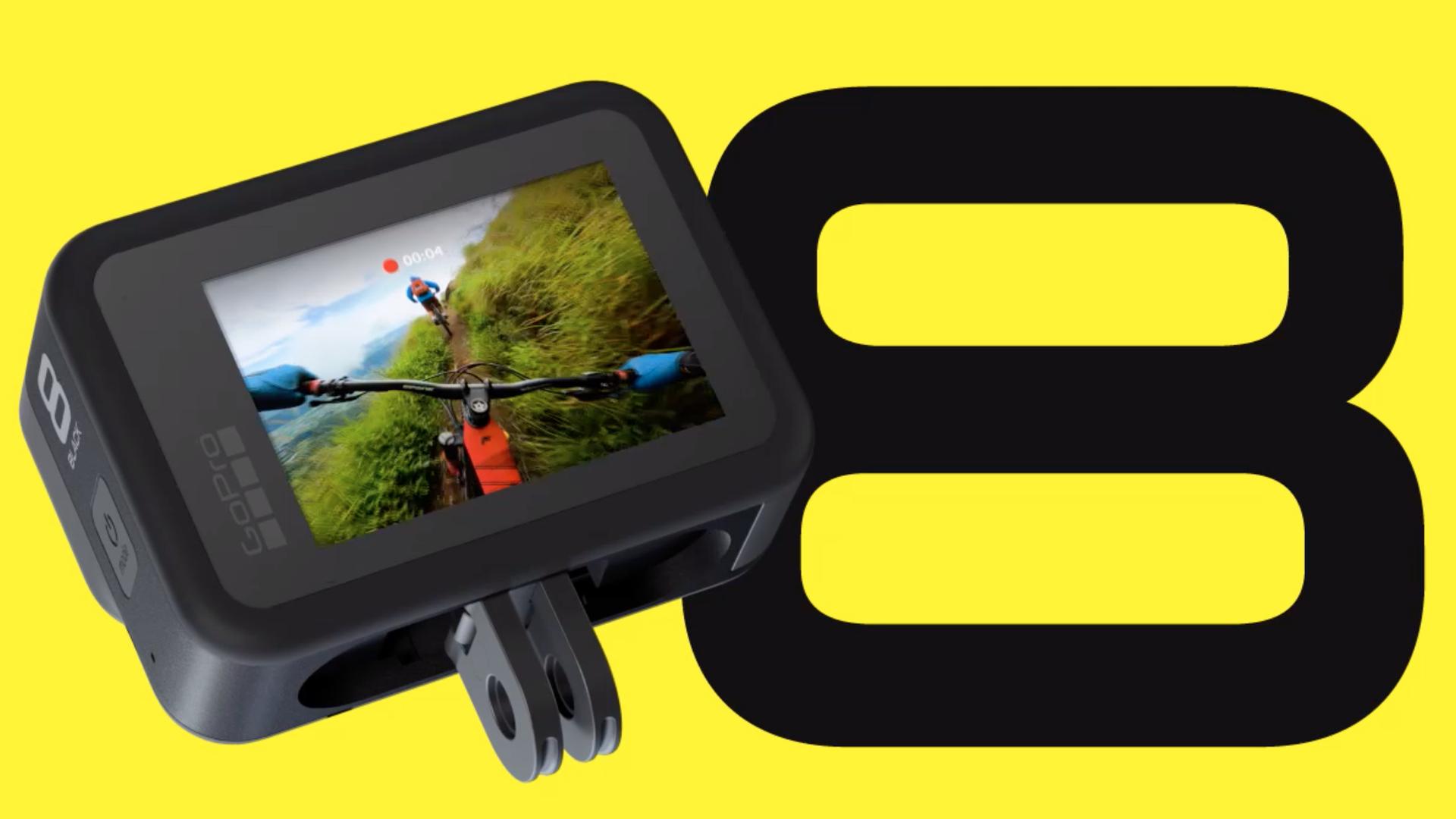 A go pro action camera