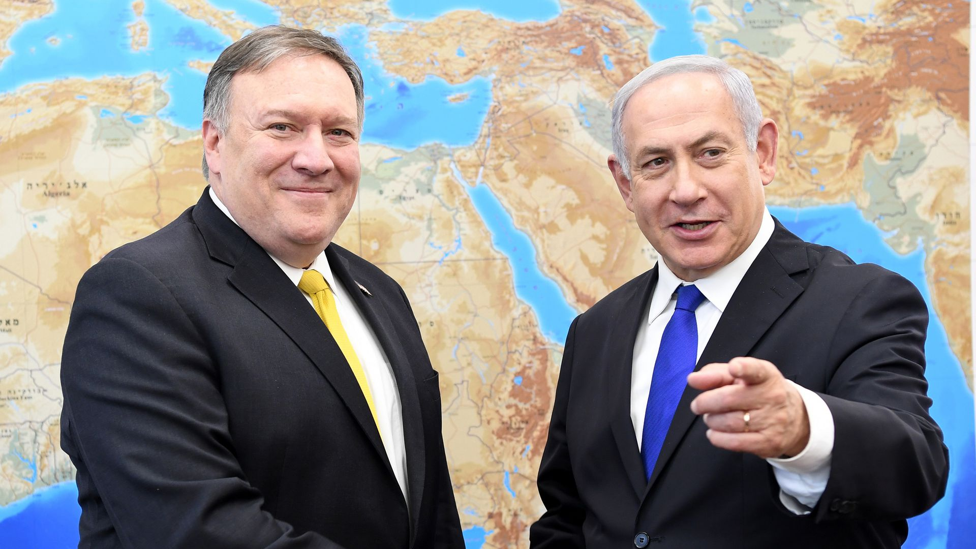 Mike Pompeo and Benjamin Netanyahu