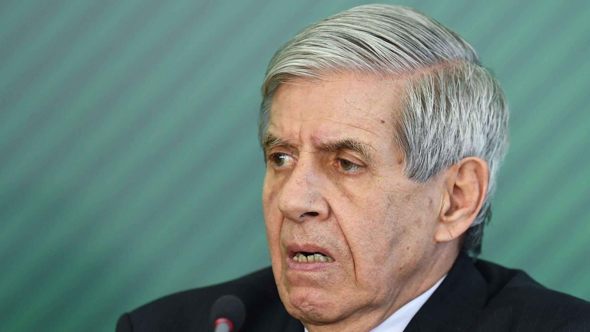 The head of Brazilian defense, Augusto Heleno.