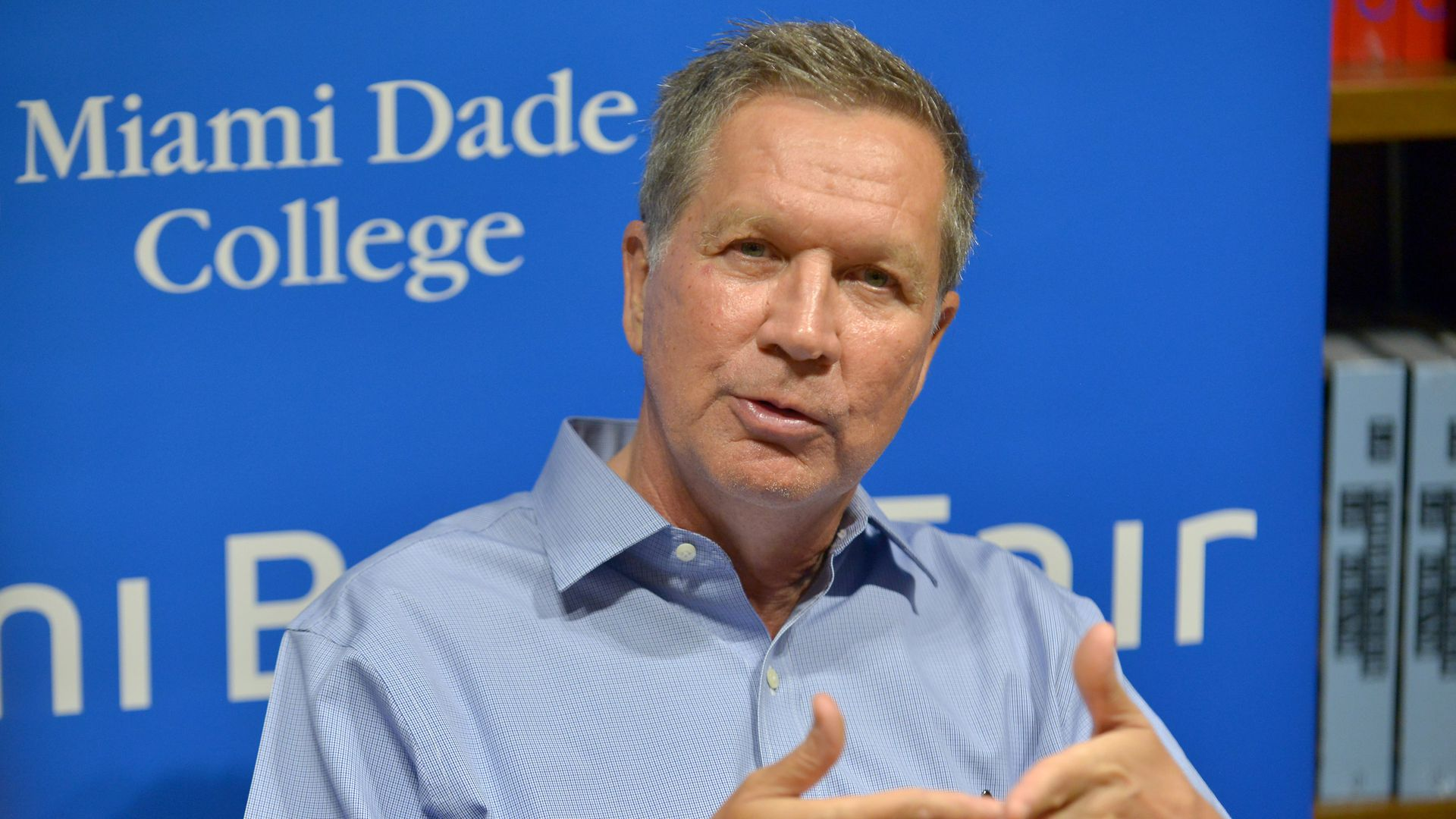 John Kasich speaks at a book signing
