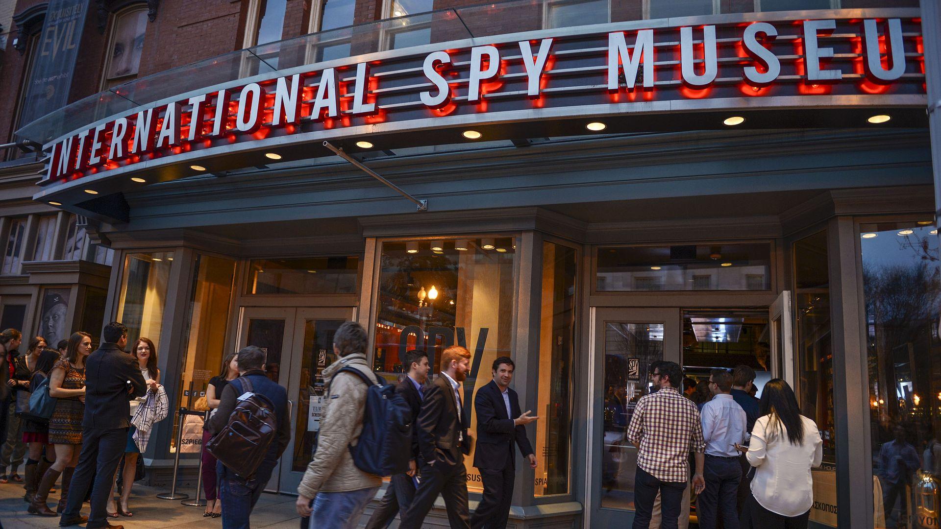 The International Spy Museum entrance.