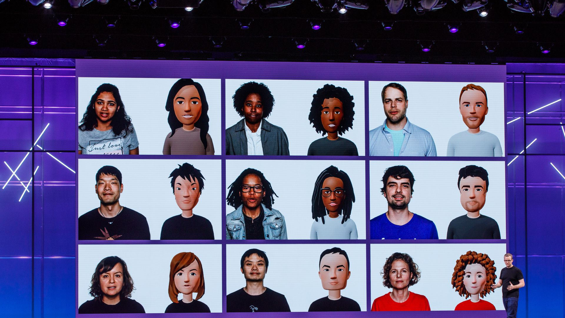 Facebook CTO Mike Schroepfer shows next-generation VR avatars created with the help of AI
