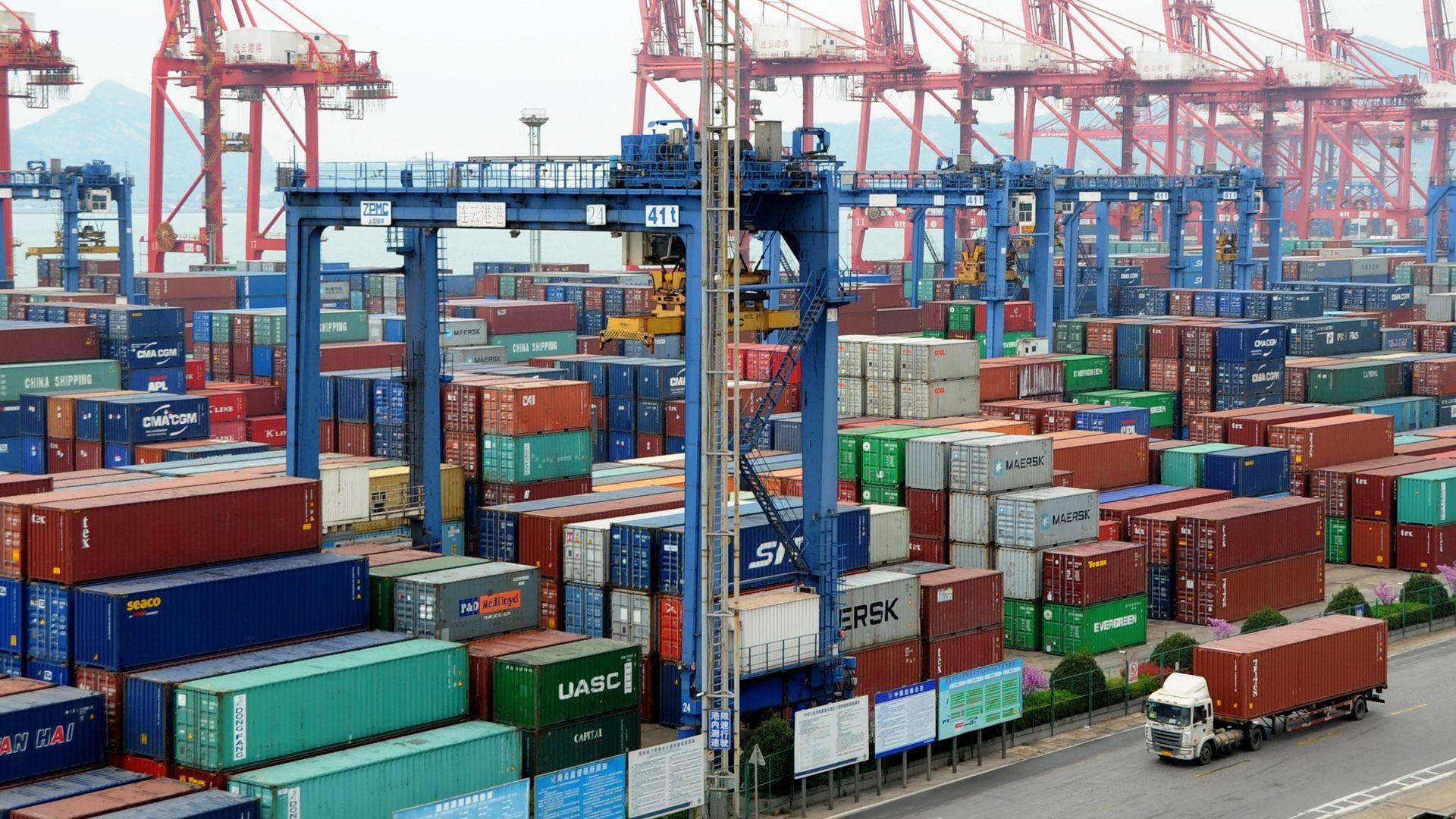 China trade port.