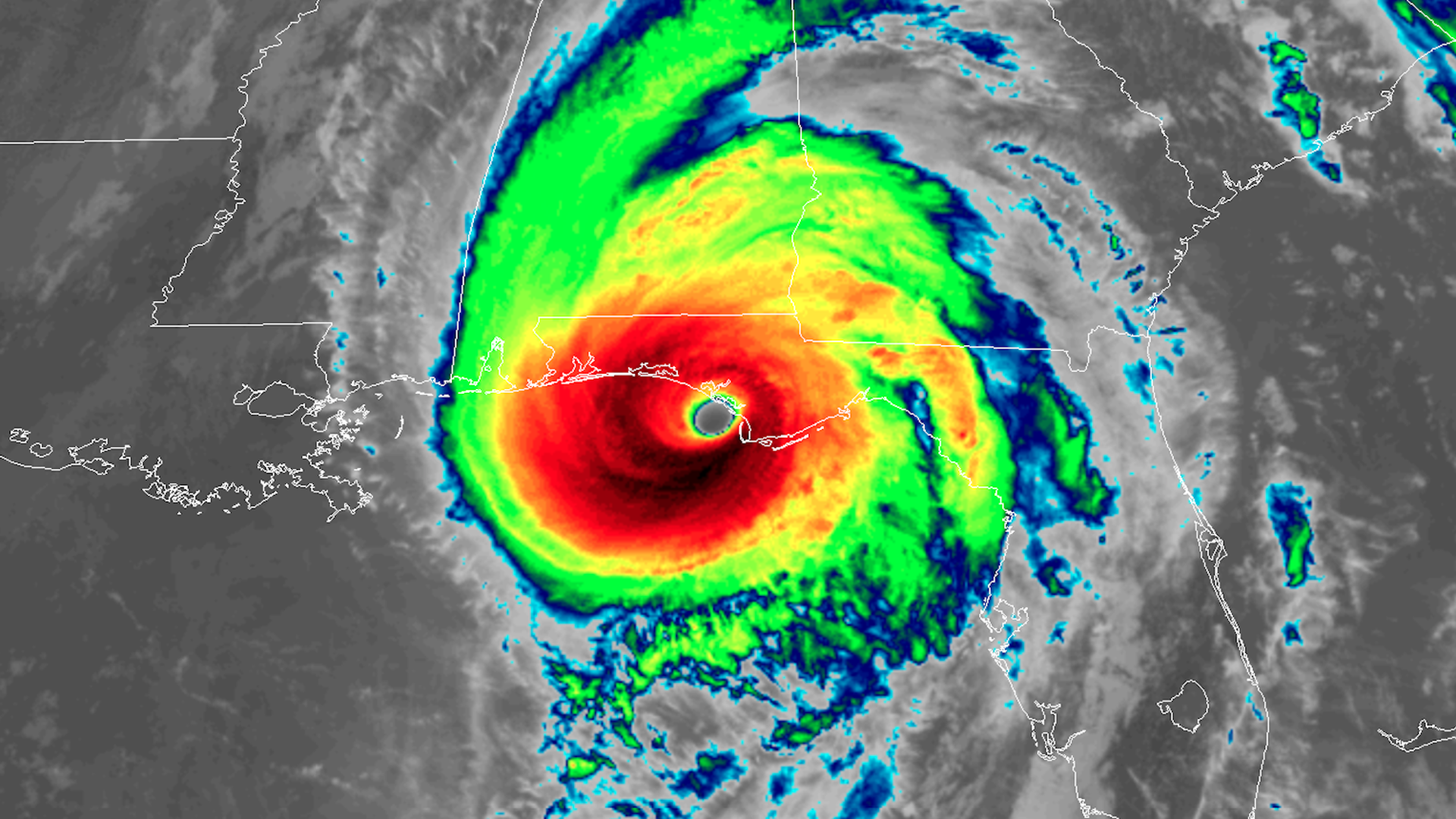 Hurricane Michael making landfall in the Florida Panhandle as one of the most intense hurricanes on record.