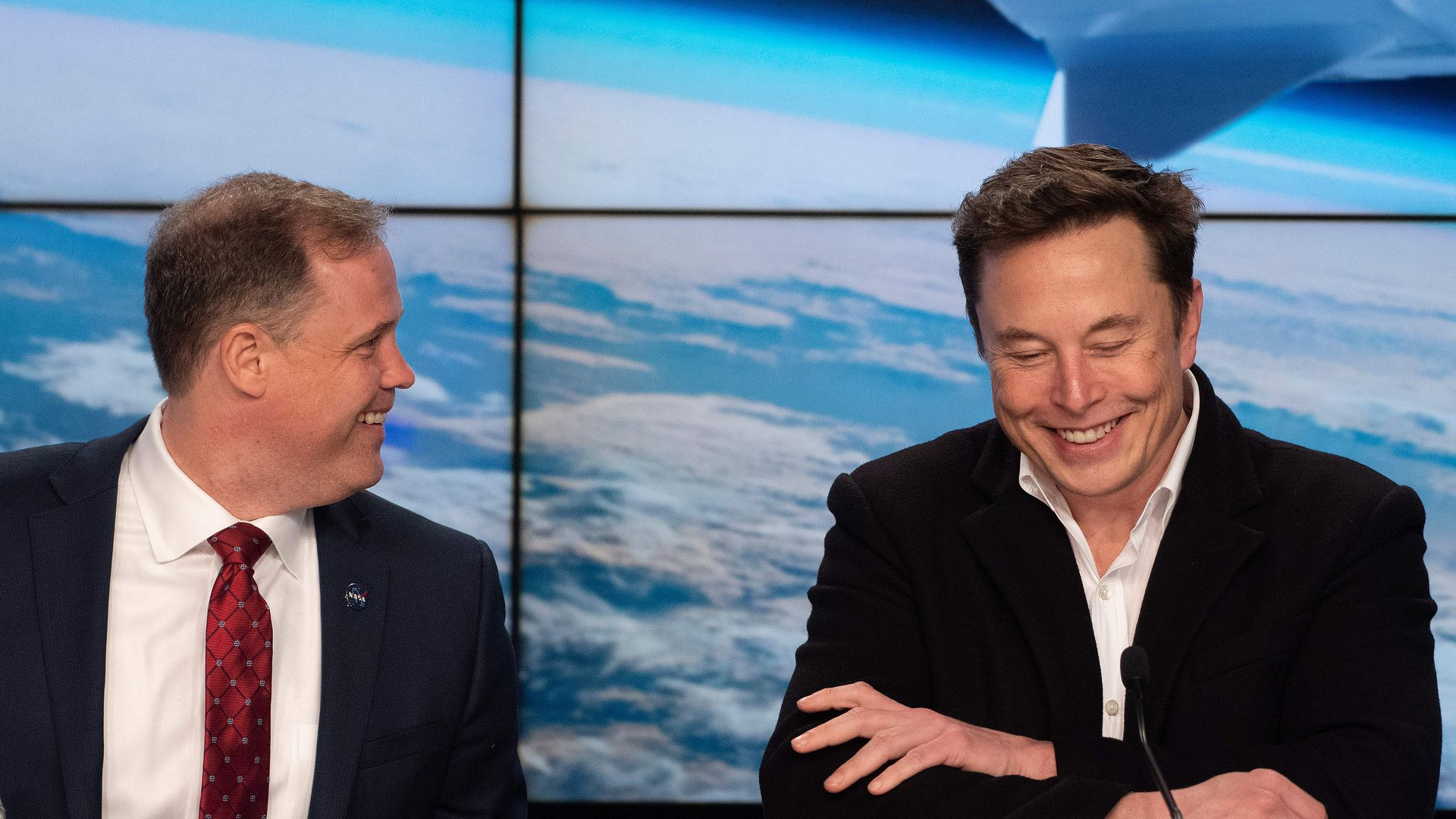 Jim Bridenstine and Elon Musk