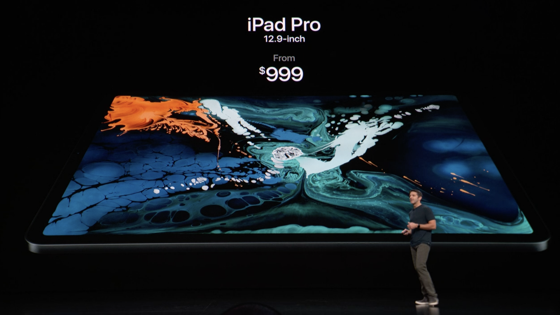 Apple presentation of new iPad pro