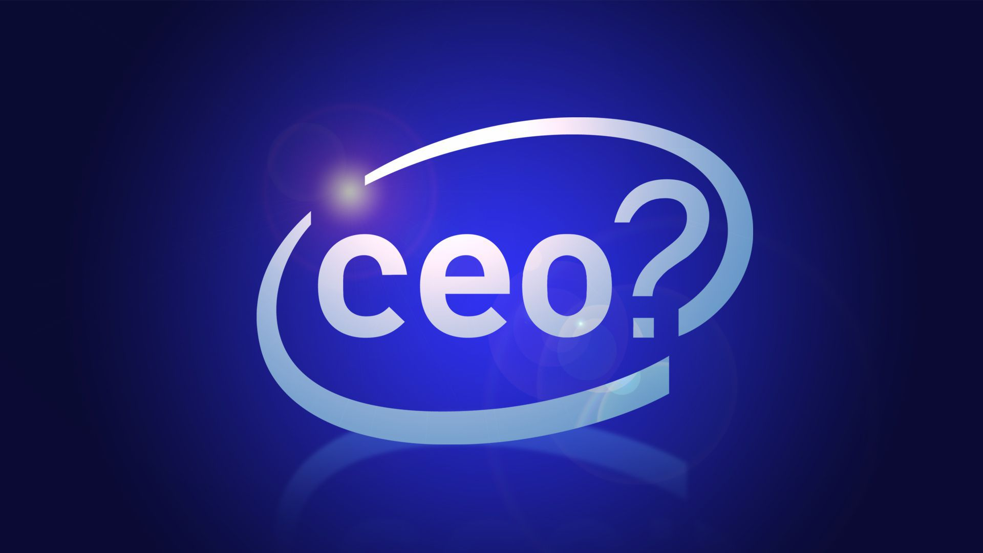 the word ceo? with a circle around it like the Intel logo
