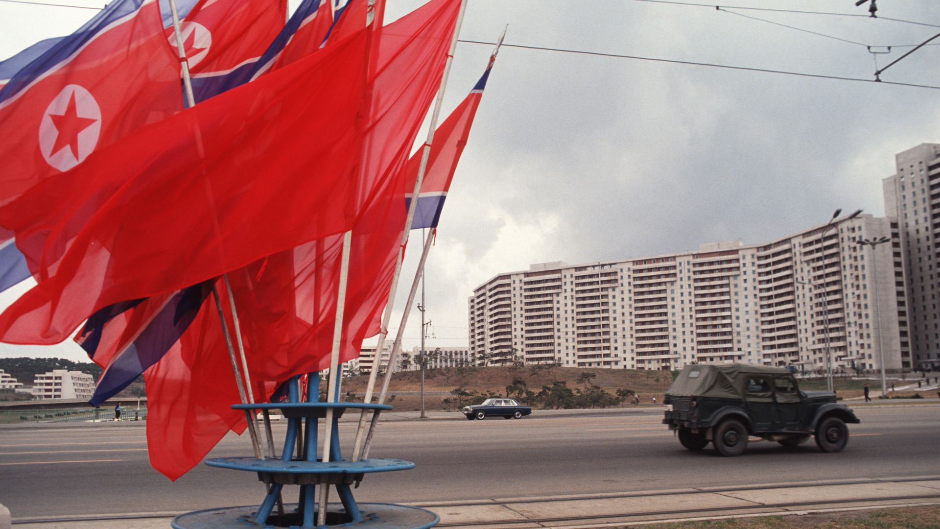 Kwangbok Street in Pyongyang.