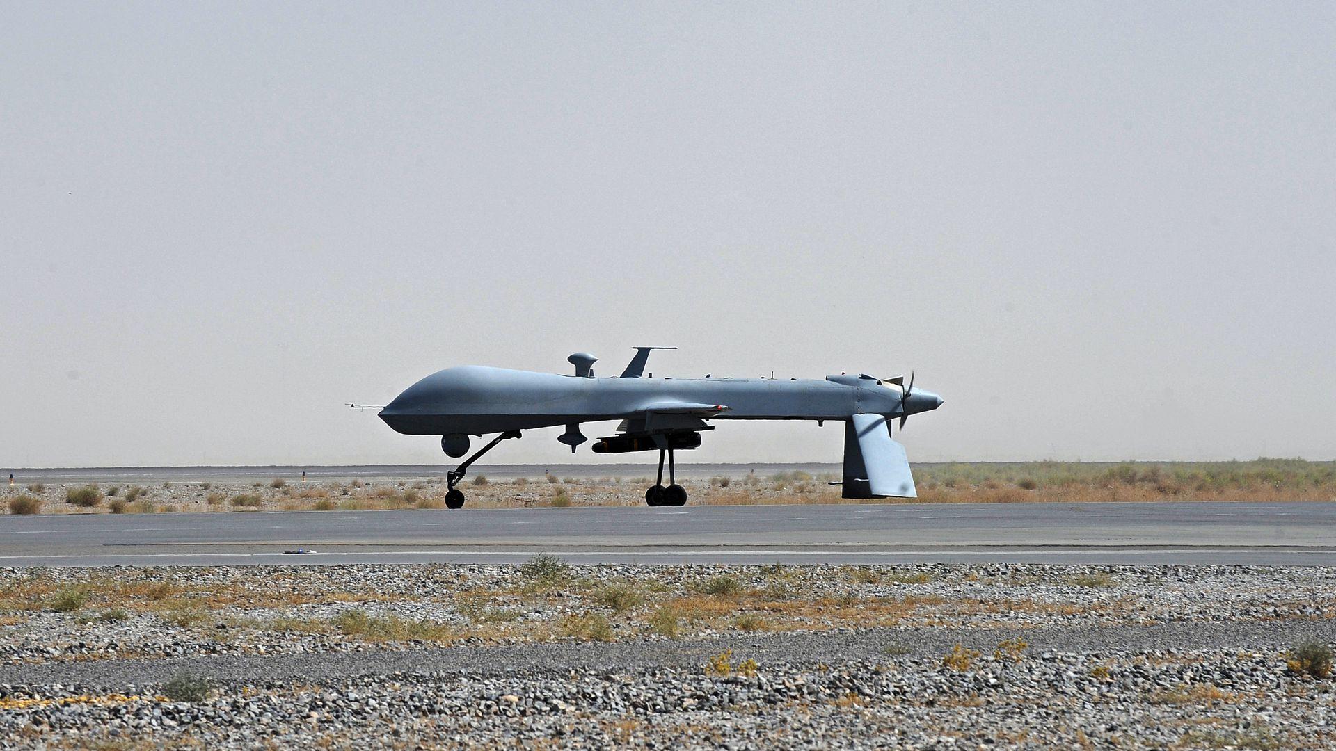 American Predator drone on tarmac