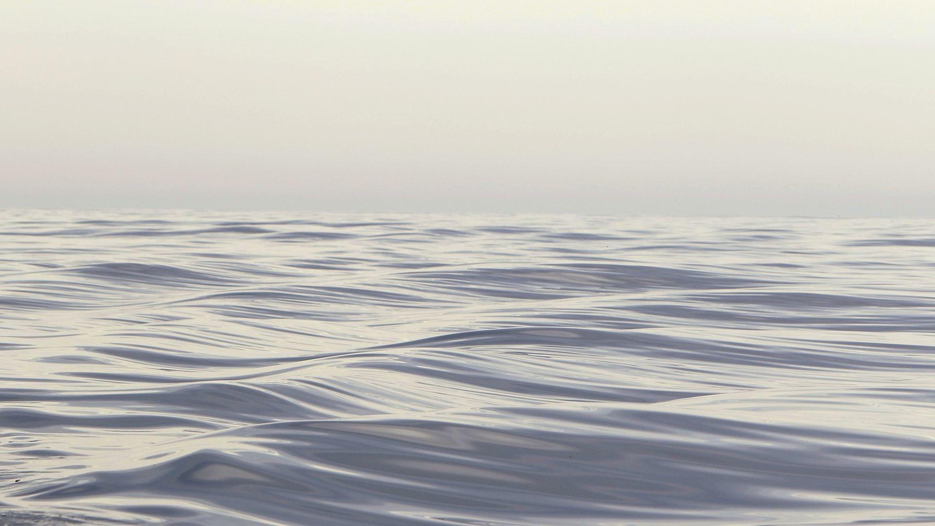 Ocean waves in the Atlantic